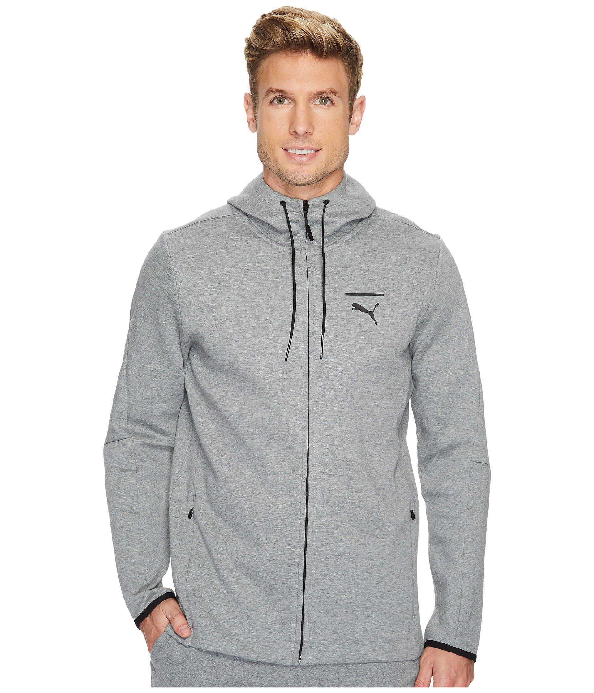 0f215f3952 Lyst - PUMA Evo Core Full Zip Hoodie in Gray for Men