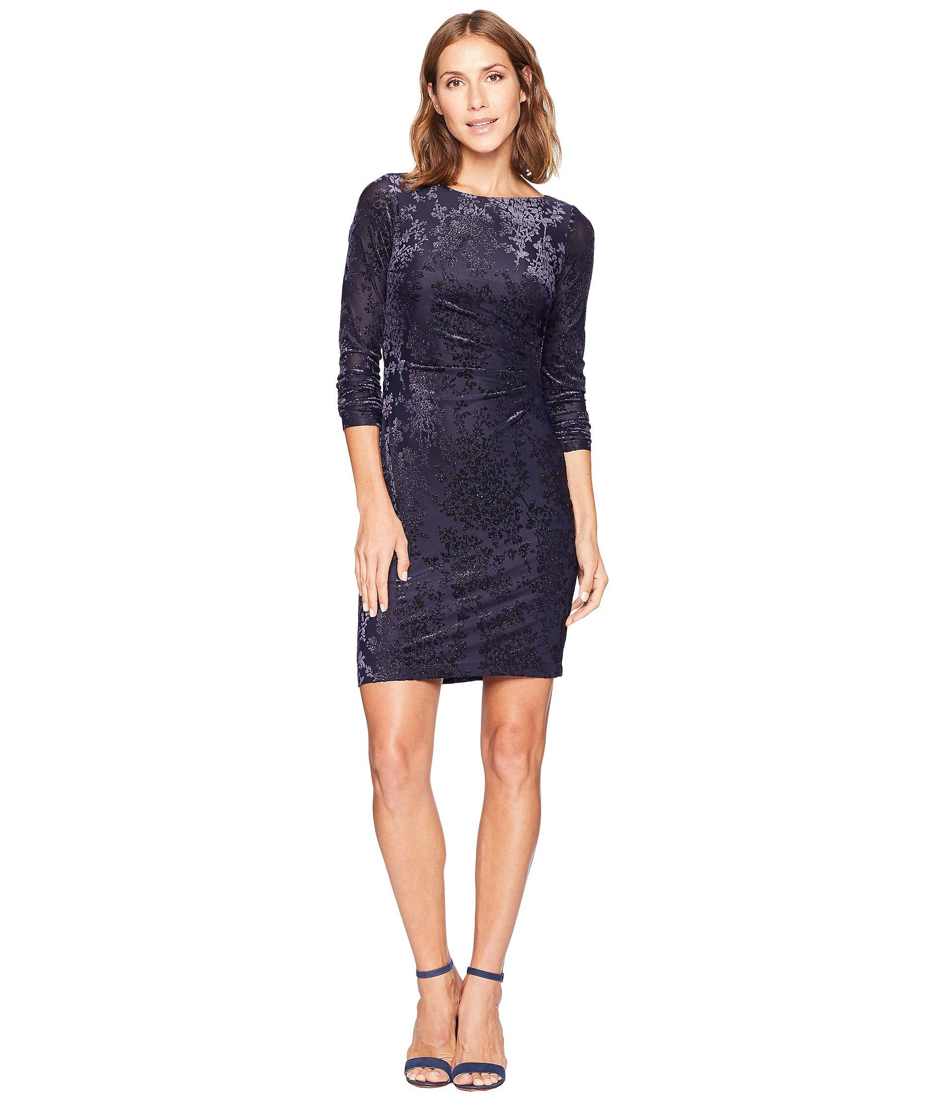 dad78a549e Vince Camuto Sequin Knit Long Sleeve Bodycon in Blue - Save 20% - Lyst