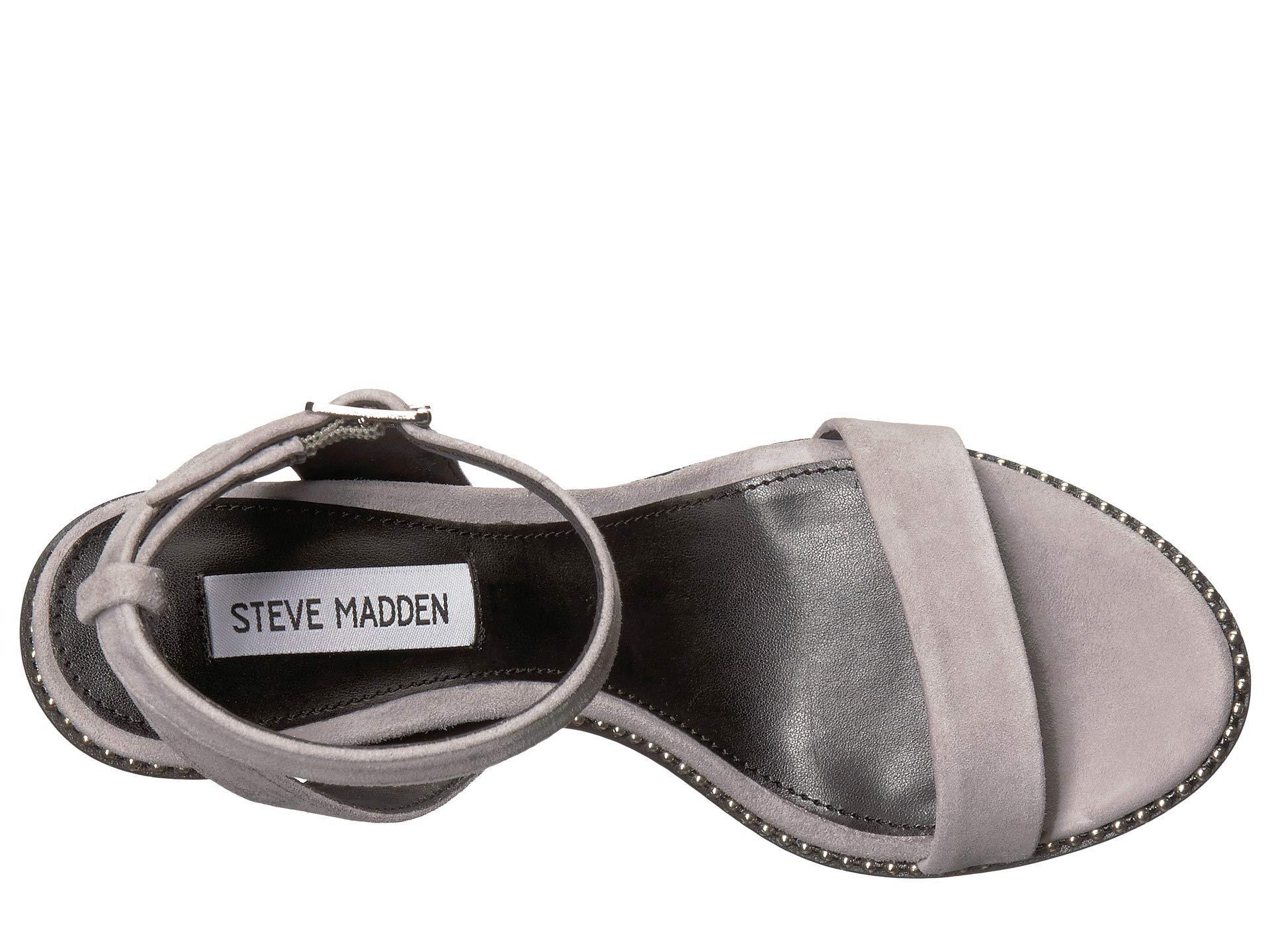 4b843a7a855e Steve Madden - Gray Sylvie Heeled Sandal - Lyst. View fullscreen