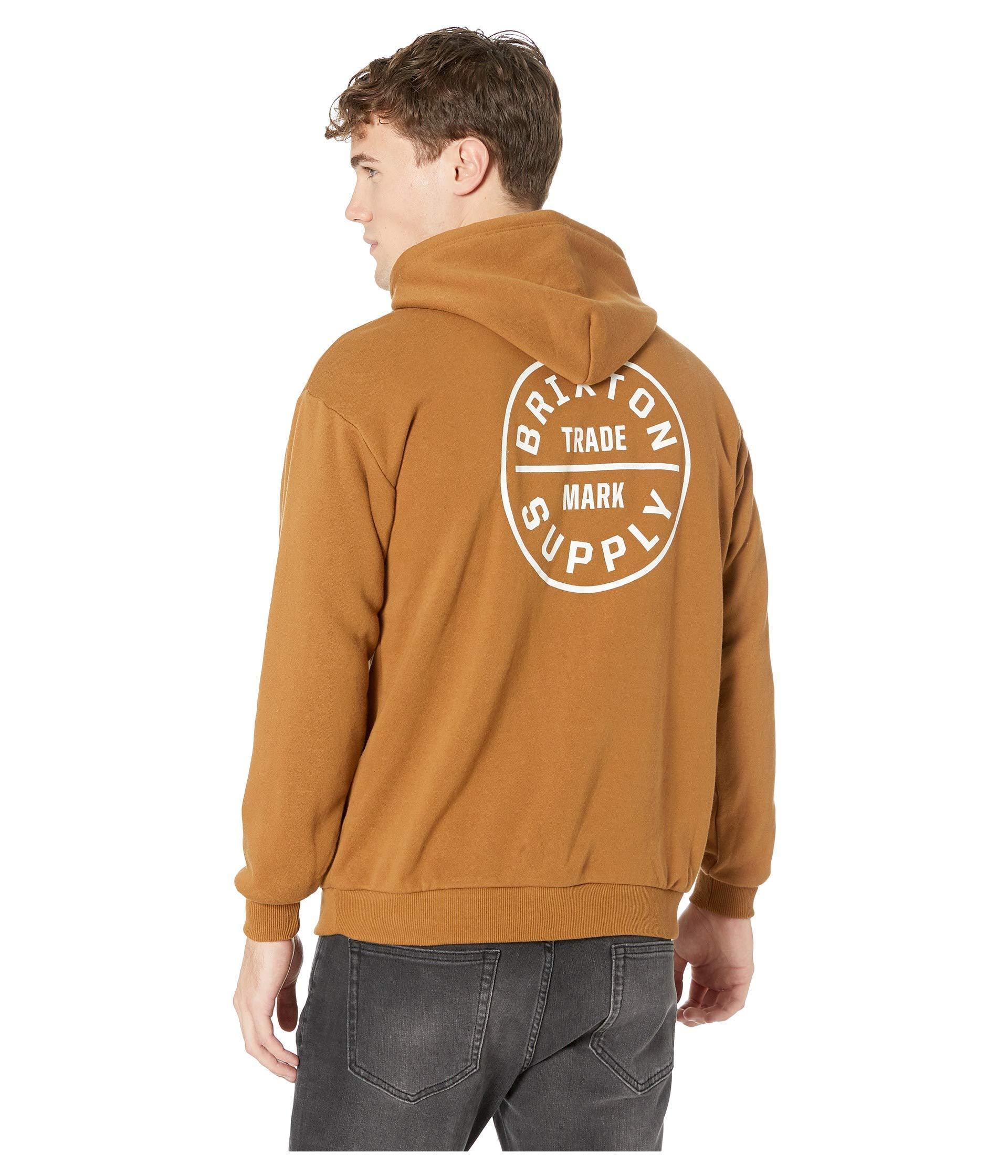 30e9517601 Brixton Oath Ii Hoodie in Brown for Men - Lyst