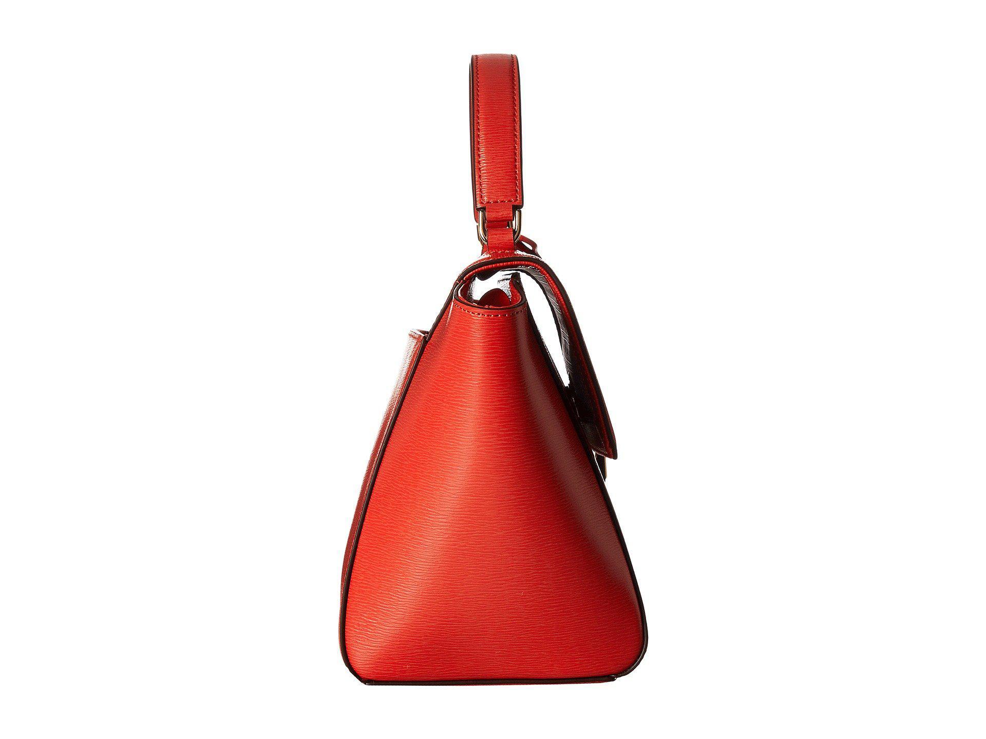 7edf760b9903 Lyst - Lauren by Ralph Lauren Newbury Barclay Crossbody Medium in Red
