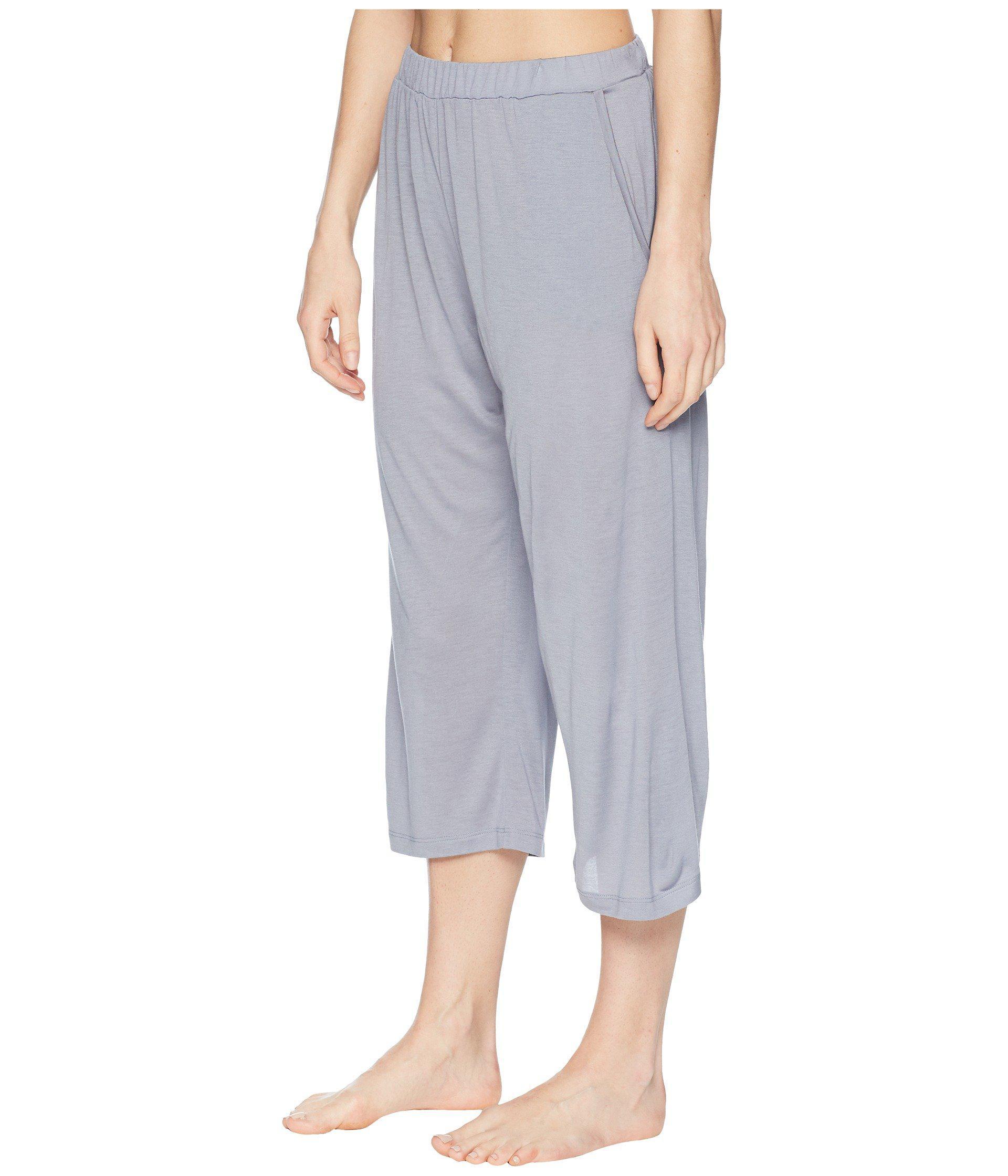 96ce74244d Lyst - Hanro Malva Crop Pants in Gray - Save 36%