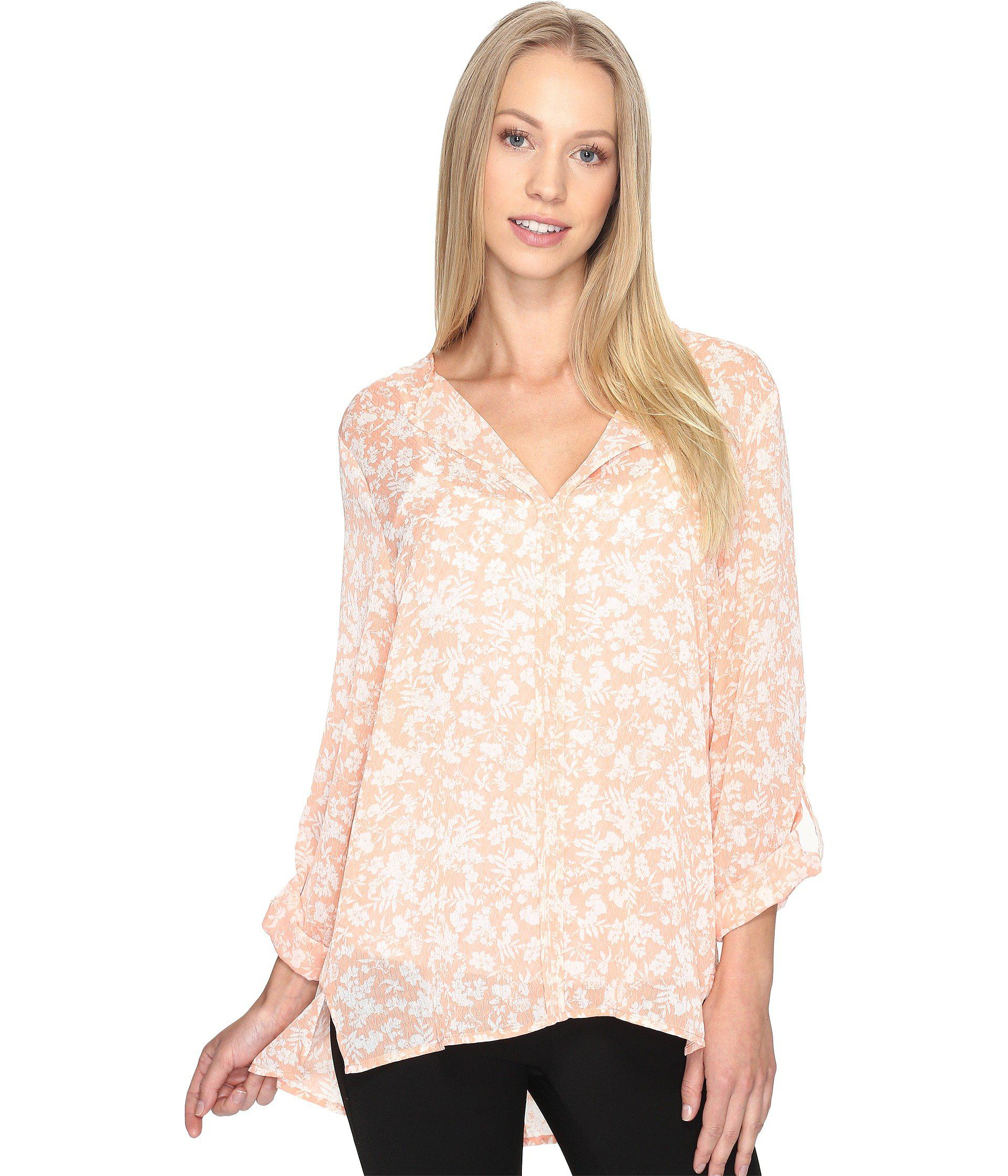 a4cc1e094fc Lyst - B Collection By Bobeau Cristy Pleat Back Blouse in Pink