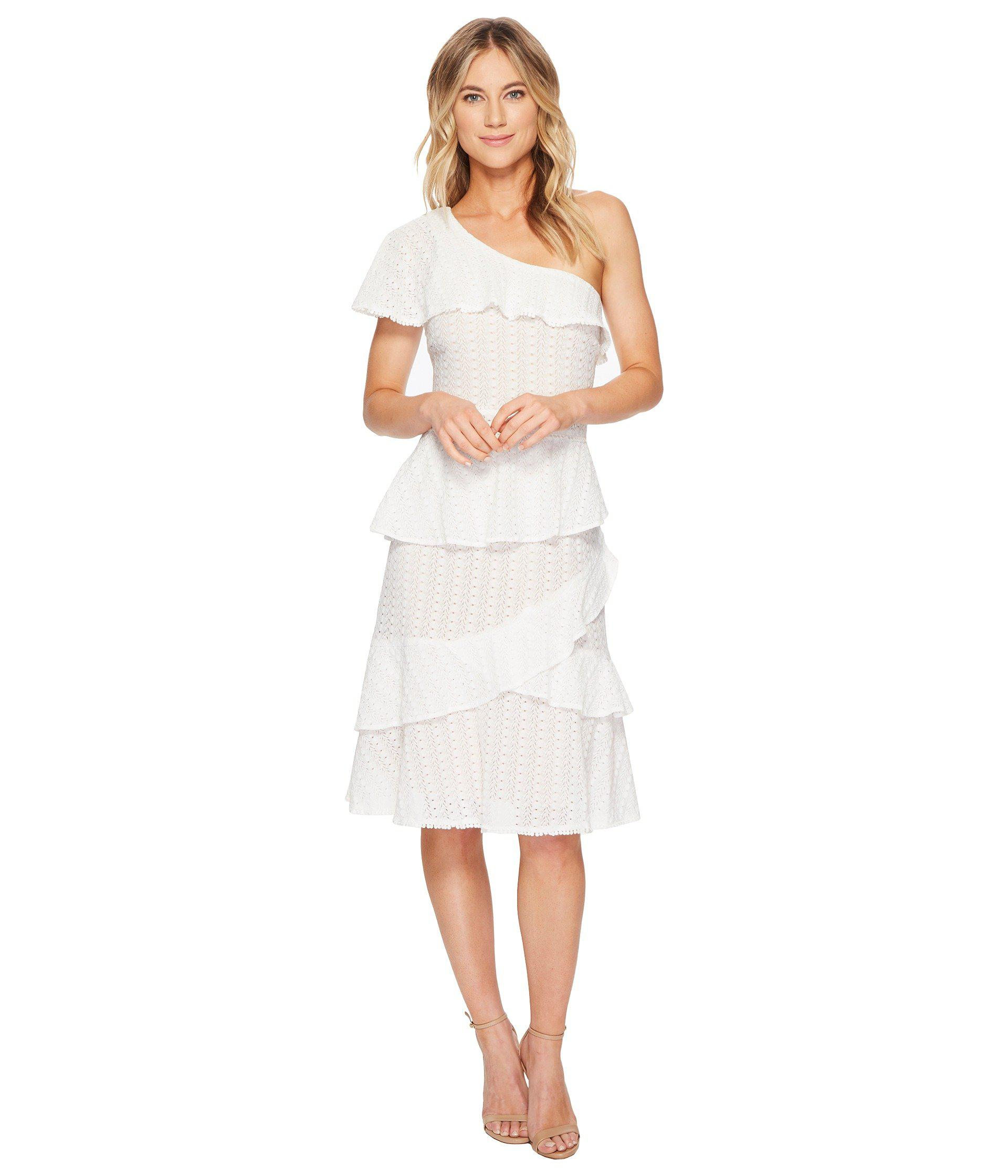 2786d020525e Adelyn Rae Trixie One Shoulder Dress in White - Lyst