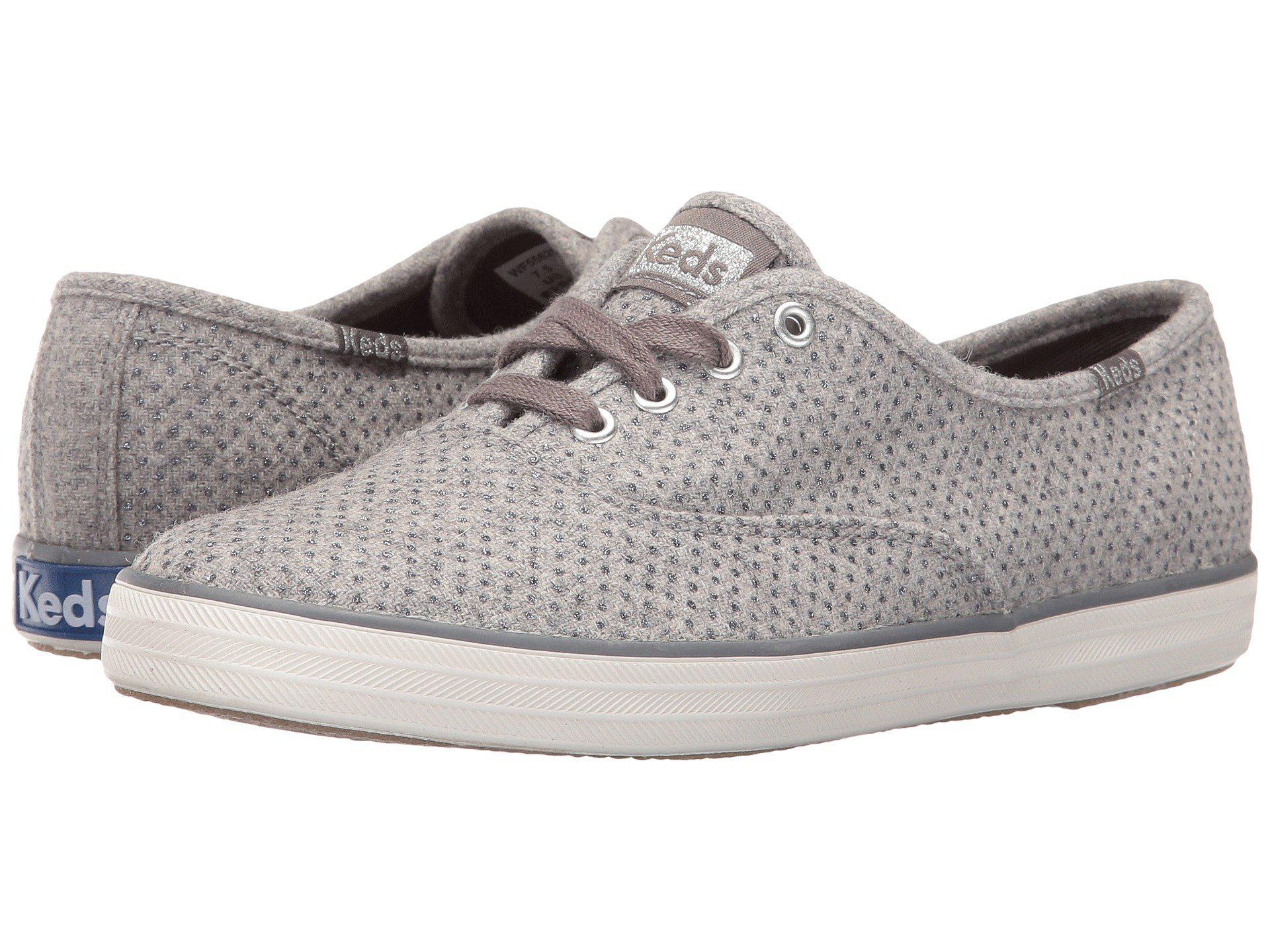 0acd548db6b88 Lyst - Keds Champion Glitter Wool Fashion Sneaker in Gray