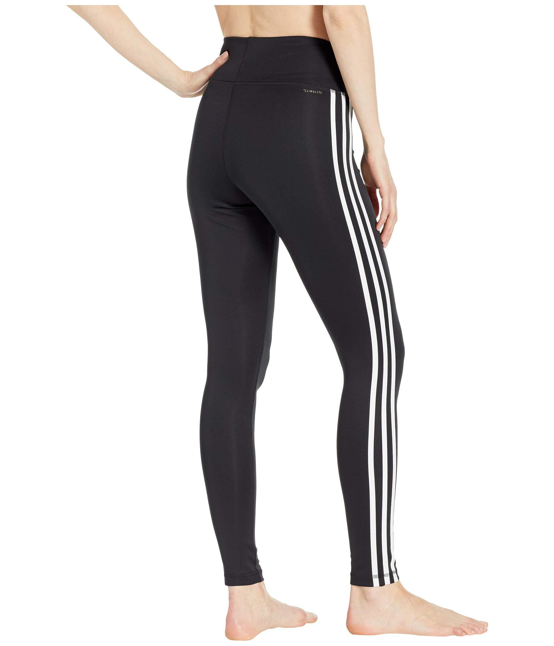 e8afe1003ed Adidas - Black Designed-2-move High-rise Long 3-stripes Tights. View  fullscreen