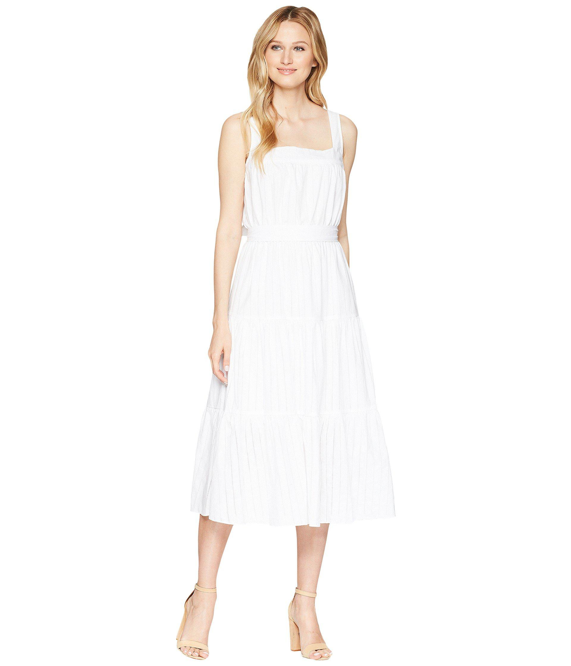 0ffb024e2dc Lyst - MICHAEL Michael Kors Tiered Midi Dress in White - Save 9%