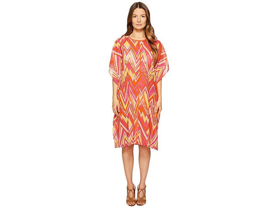 0e622a4b35f53d M Missoni Retro Zigzag Cotton Voile Cover-up (pink) Swimwear in Pink ...
