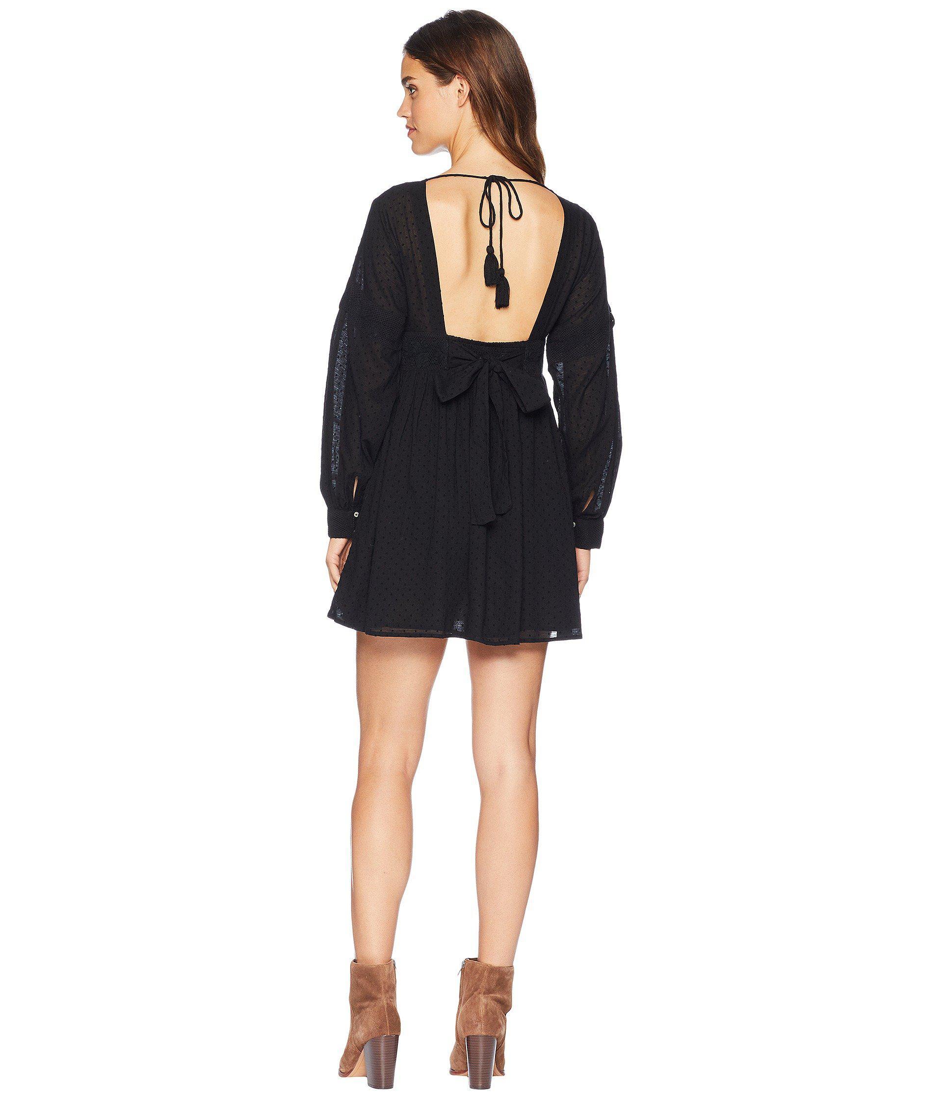 26727b0045b Free People - Black Sugarpie Mini Dress - Lyst. View fullscreen
