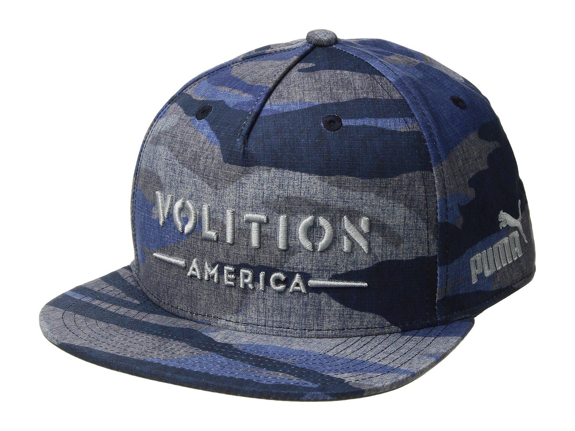 c59c24b677e Lyst - PUMA Volition Camo Snapback Cap in Blue for Men