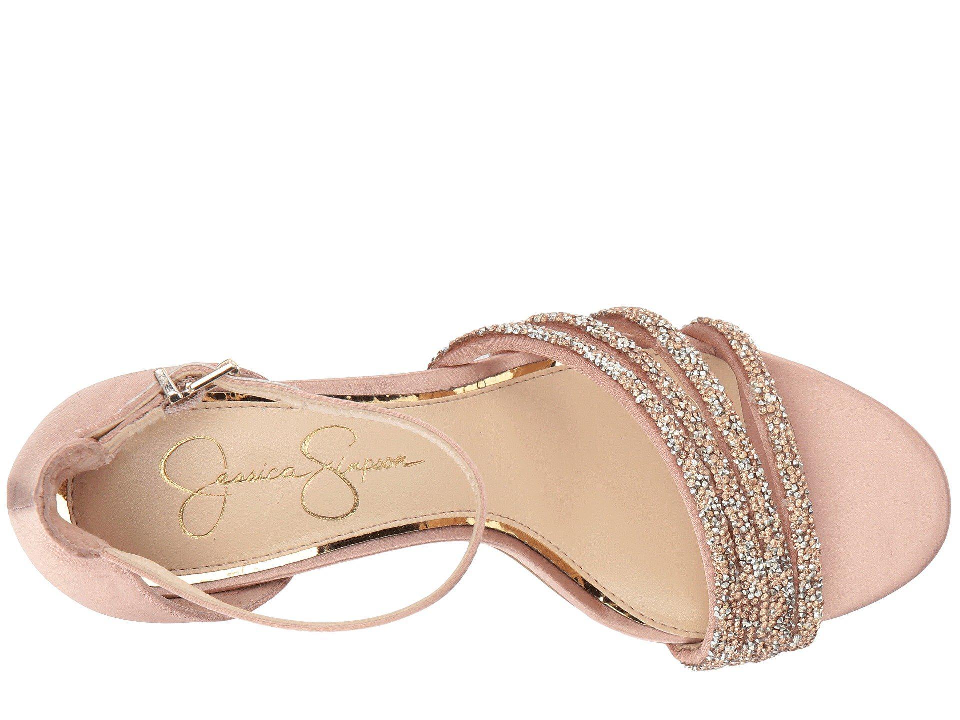 8681c416fe58 Jessica Simpson - Natural Paveny Heeled Sandal - Lyst. View fullscreen