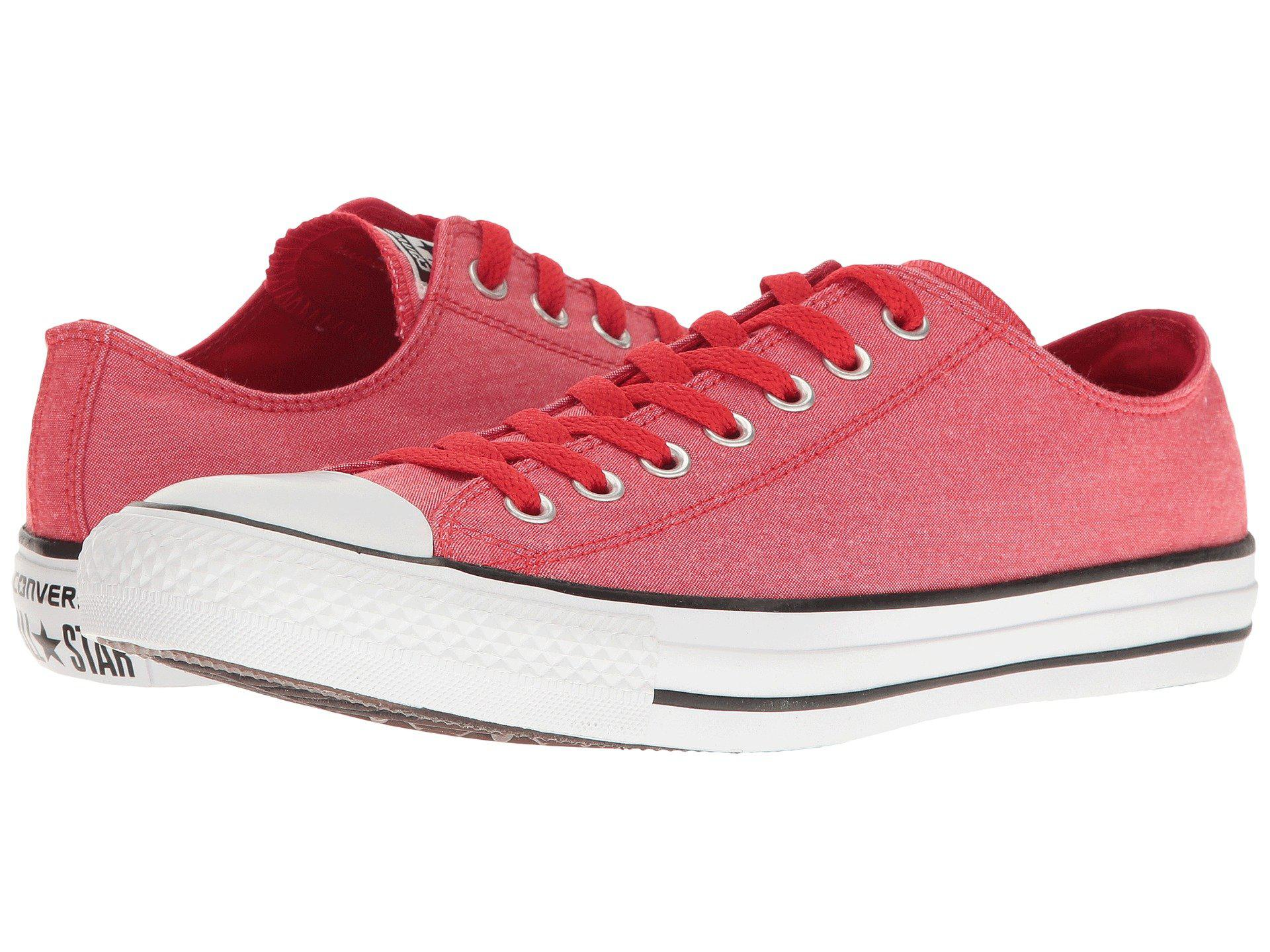 390b12187c1bfc Lyst - Converse Chuck Taylor® All Star® Washed Chambray Ox in Red