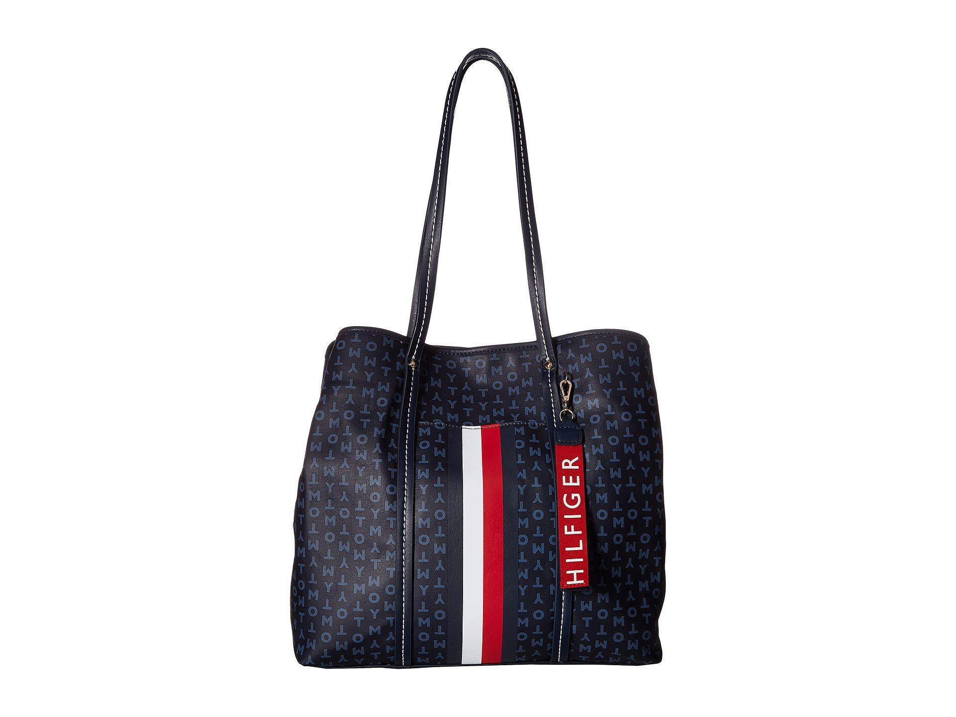 188532c772 Lyst - Tommy Hilfiger Roma North south Tote Th Block in Blue