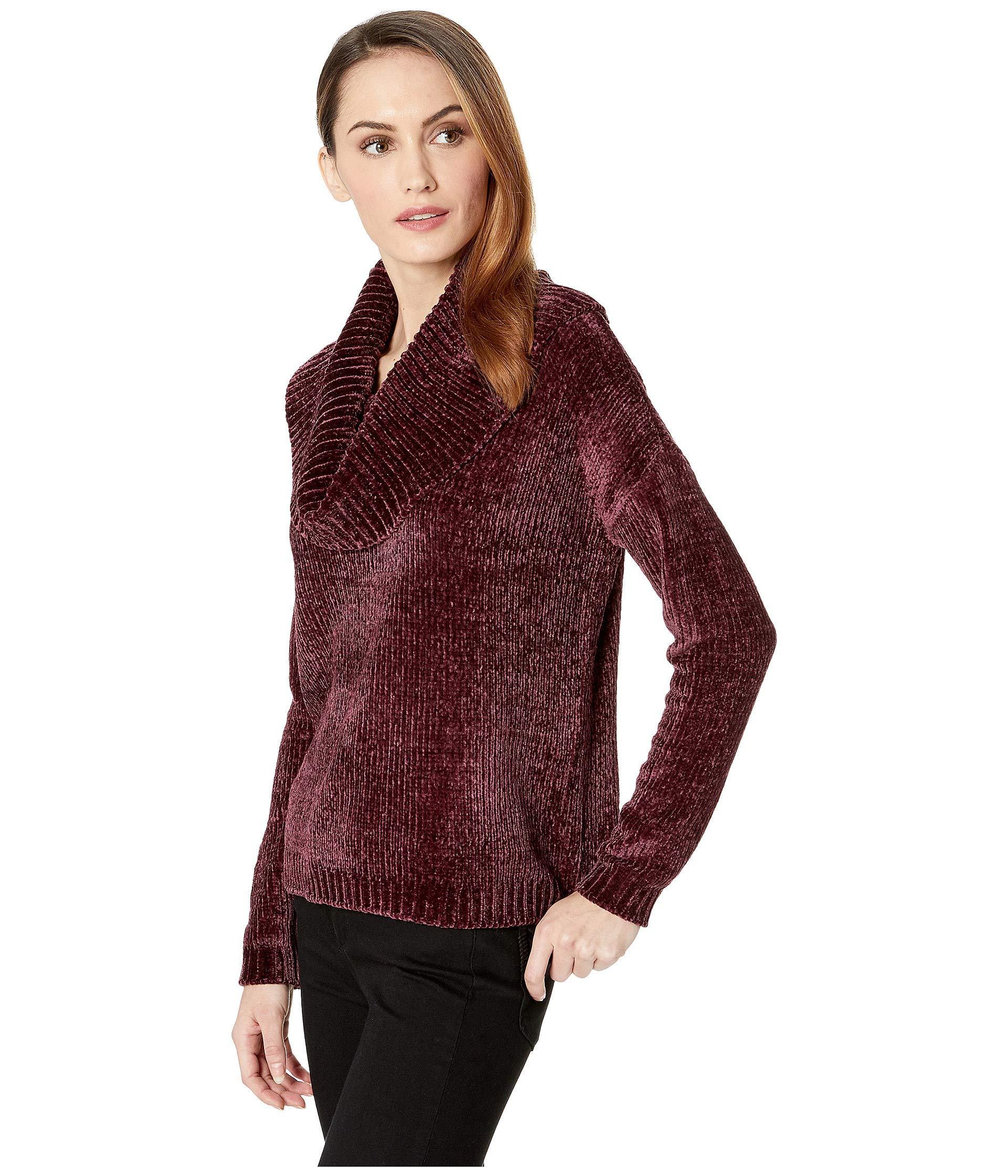 fd930b7e5252 Lyst - MICHAEL Michael Kors Long Sleeve Velvet Cowl Sweater in Red - Save  27%