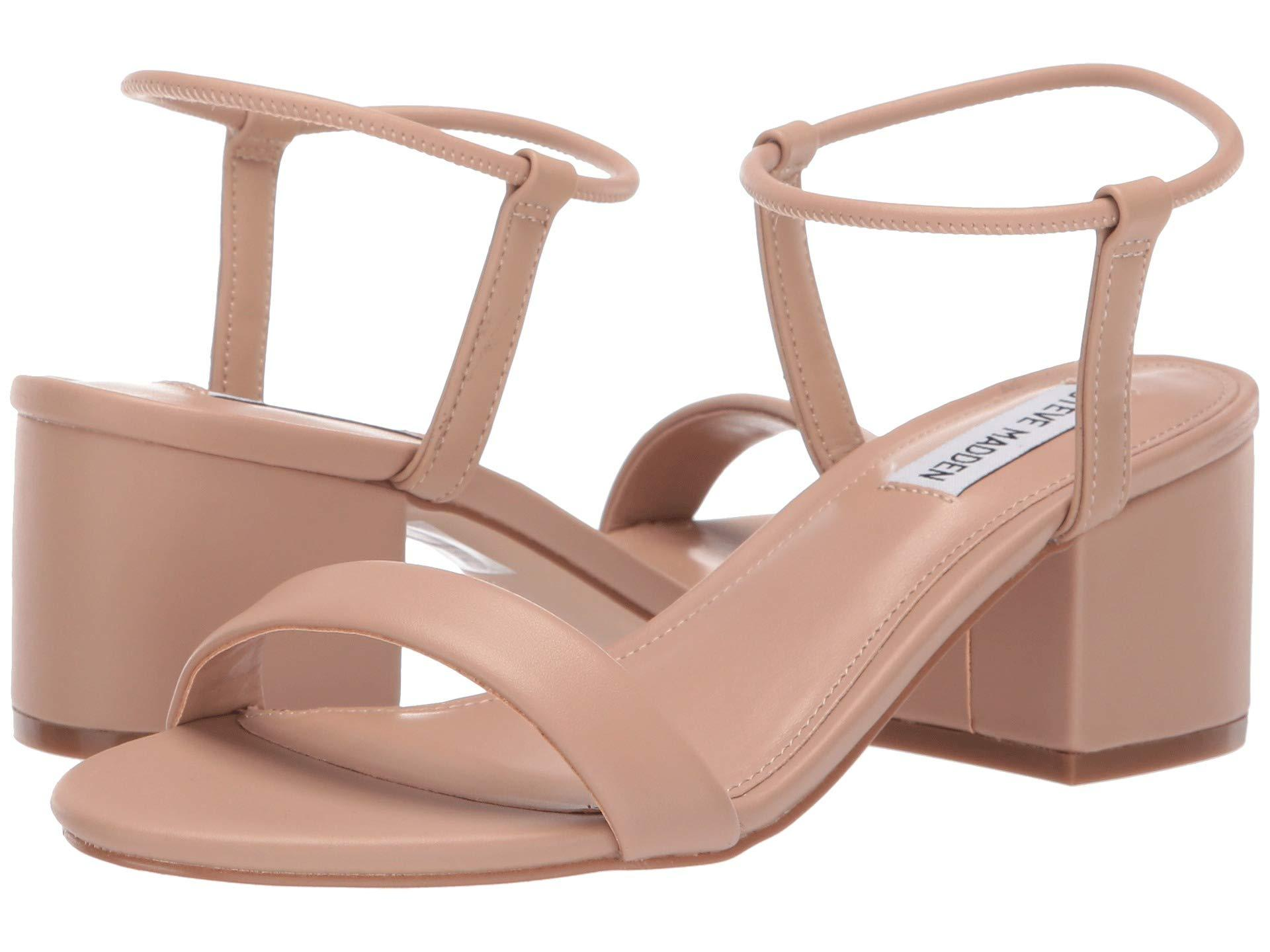 eb5054884ec Lyst - Steve Madden Ida Heeled Sandal in Natural