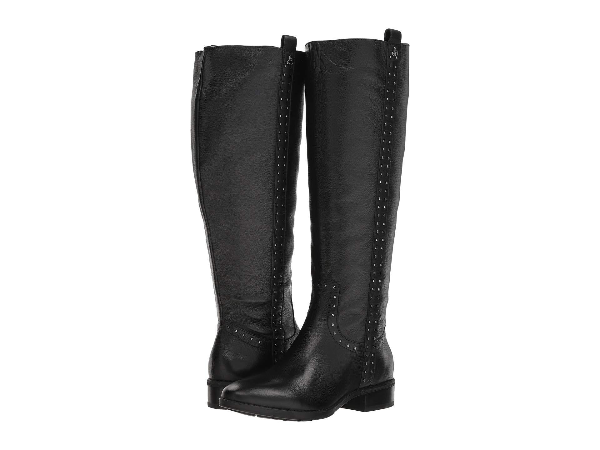 0ecfd9dfd597 Lyst - Sam Edelman Prina Wide Calf Leather Tall Boot in Black
