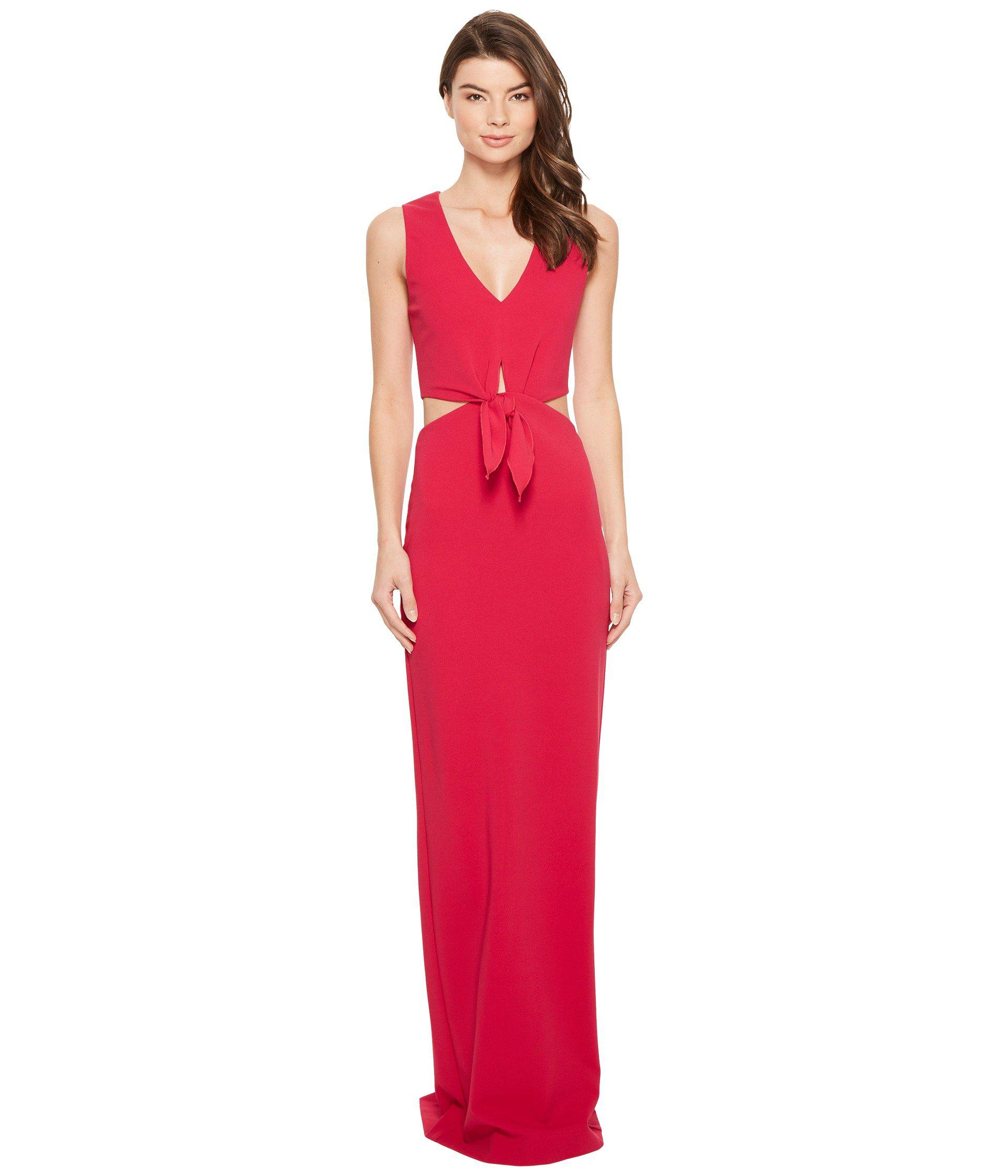 Lyst - Nicole Miller Grayson Structured Heavy Jersey Gown in Red