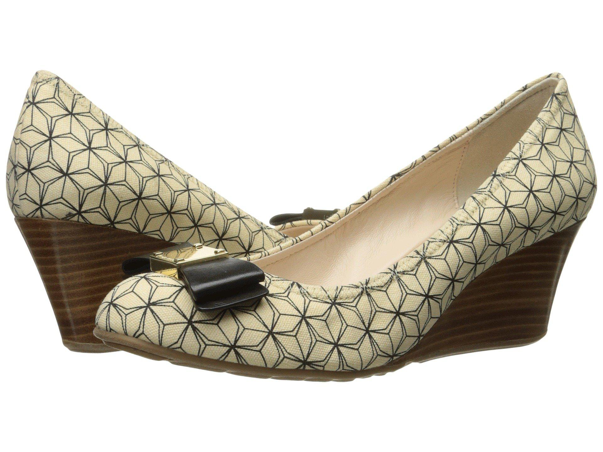 d250dbb27 Lyst - Cole Haan Tali Grand Bow Wedge 65 - Save 12%