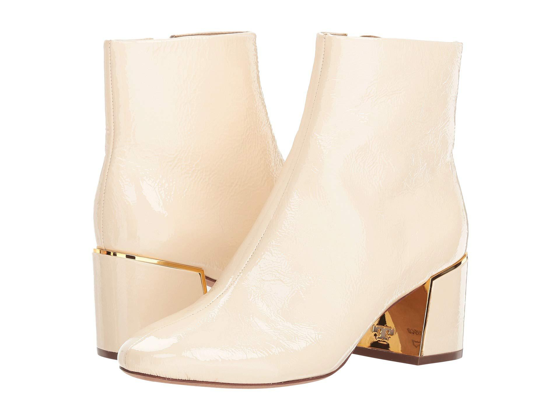 0eb00ff13724 Lyst - Tory Burch Juliana Booties in Natural - Save 65%