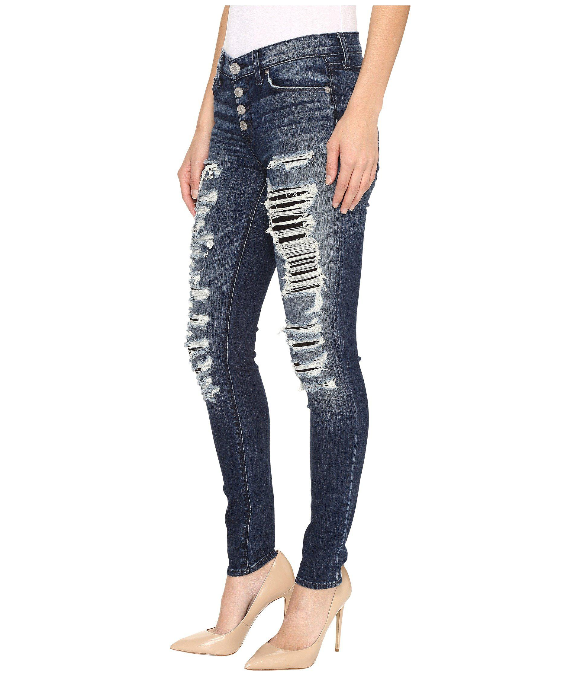 45d05c91af1 Hudson Jeans Ciara High-rise Exposed Buttons In Bombard Blue in Blue ...