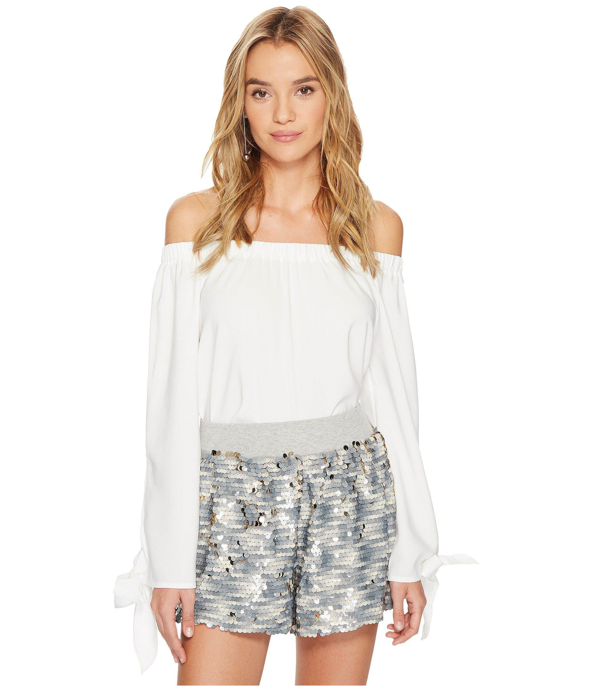 bd26318ea6f83 Lyst - Bishop + Young Avery Off Shoulder Top in White - Save ...