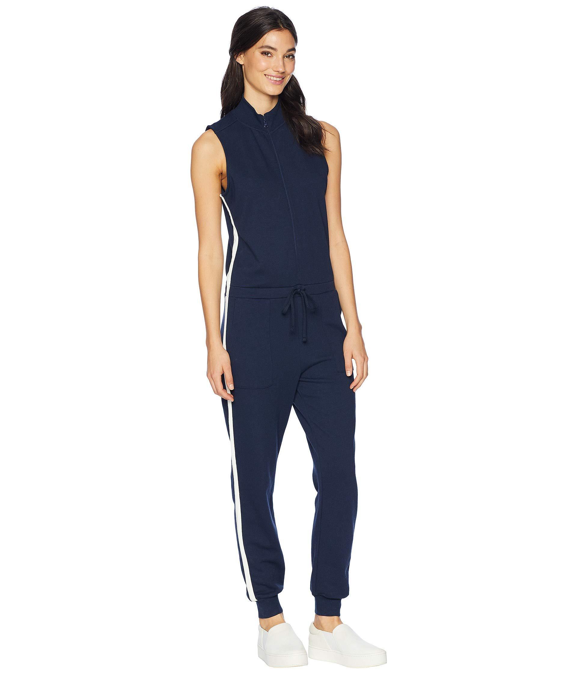 d7792819bb31 Juicy Couture - Blue Knit Terry Color Block Stripe Jumpsuit - Lyst. View  fullscreen