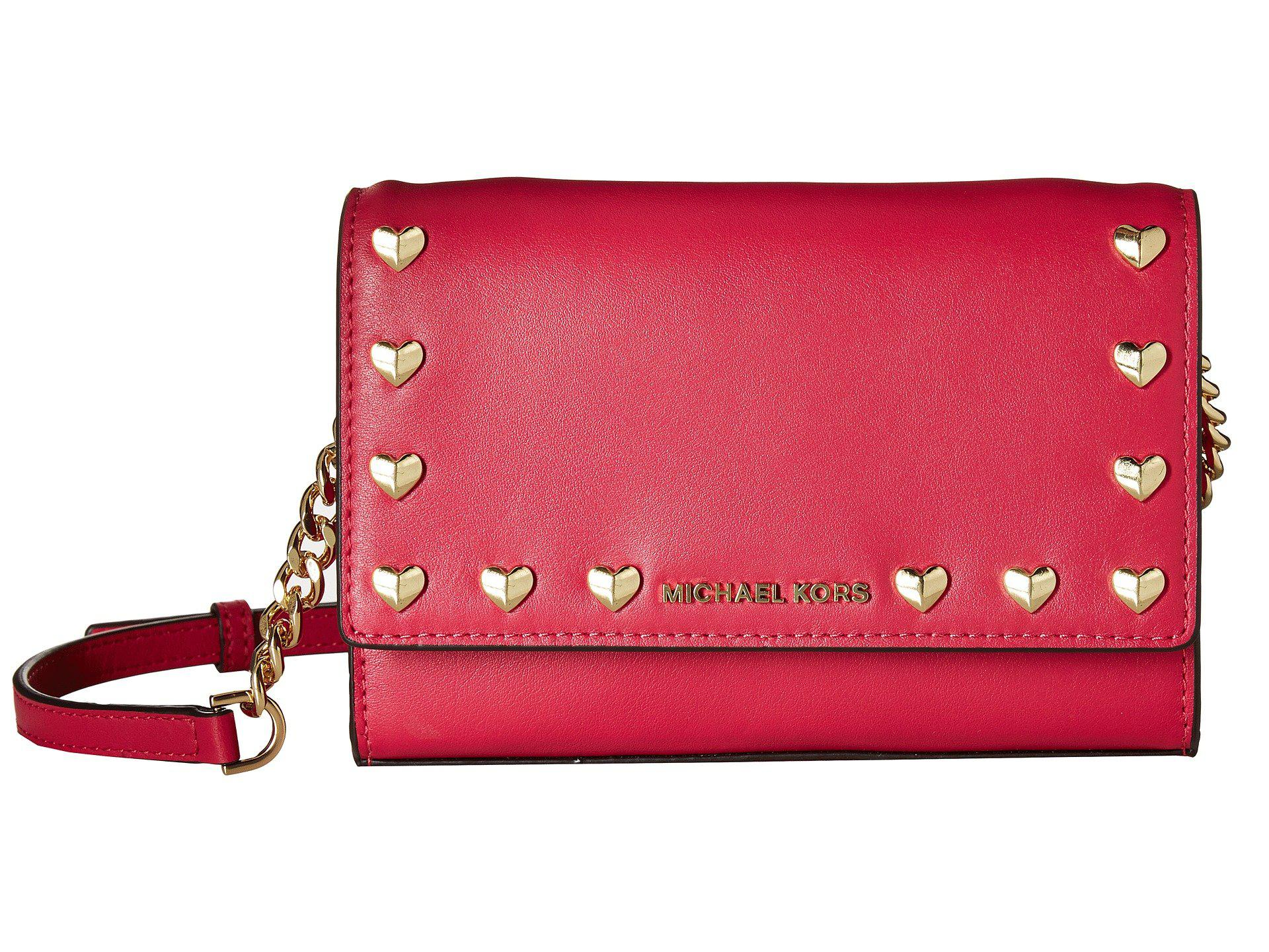 7a3dfc672f Lyst - MICHAEL Michael Kors Ruby Medium Clutch in Pink