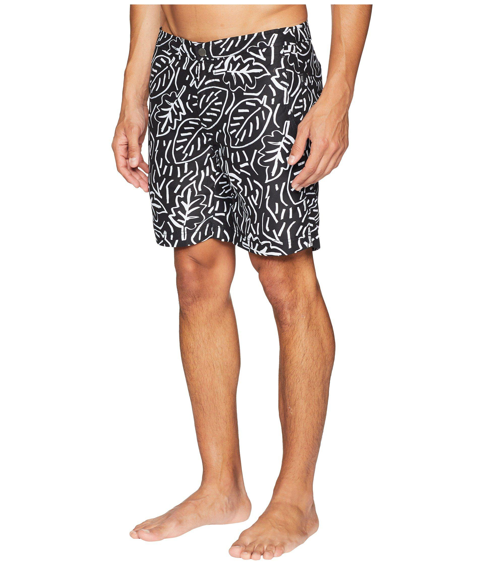 251a3d7cef Lyst - Onia Calder 10 Pop Leaves Swim Trunk in Black for Men - Save 50%