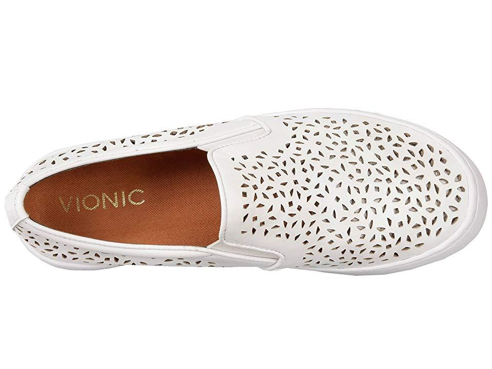 edb183aa8 Vionic Midi Perf (white Perfed Leather) Slip On Shoes in White ...