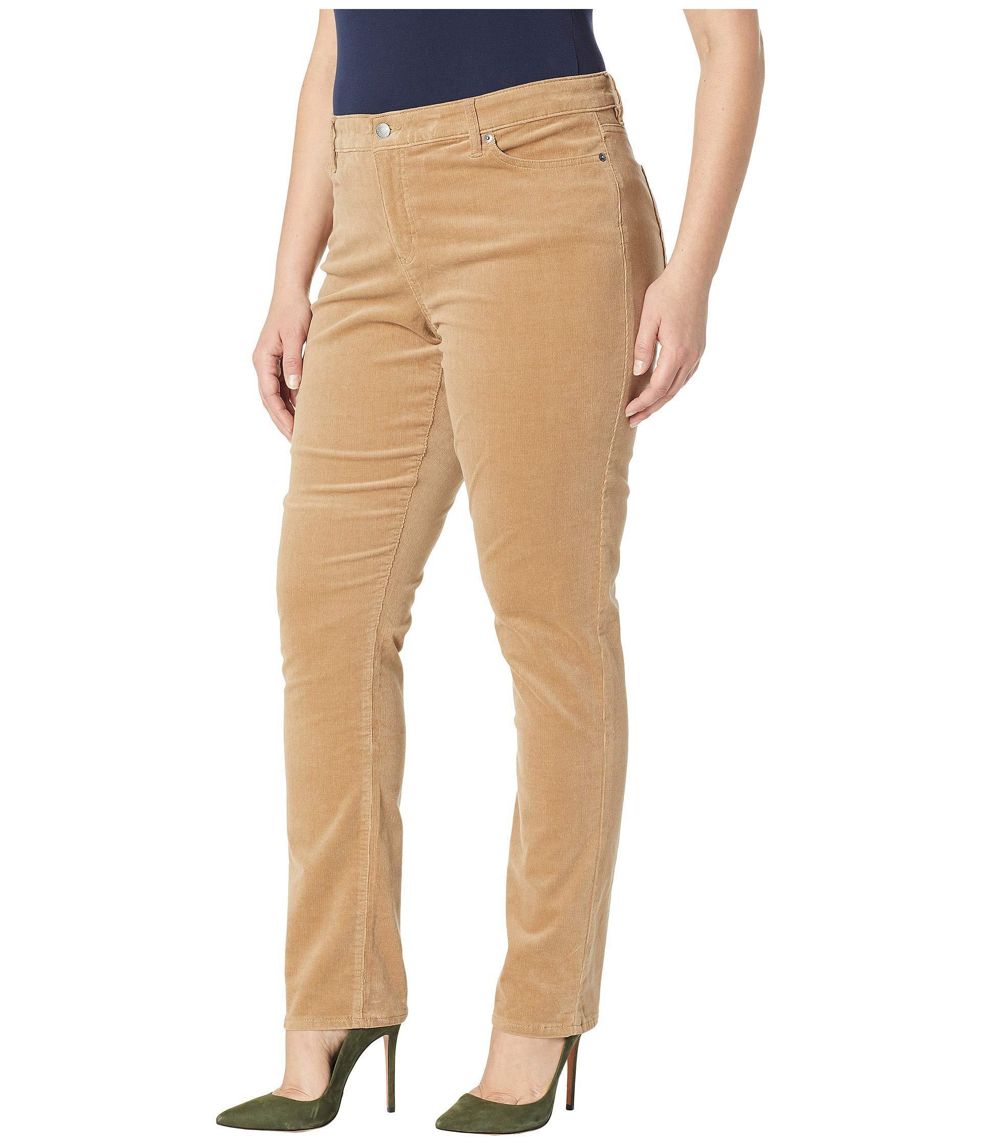 4057556e8828d Lyst - Lauren by Ralph Lauren Plus Size Premier Straight Corduroy Jeans in  Natural - Save 36%