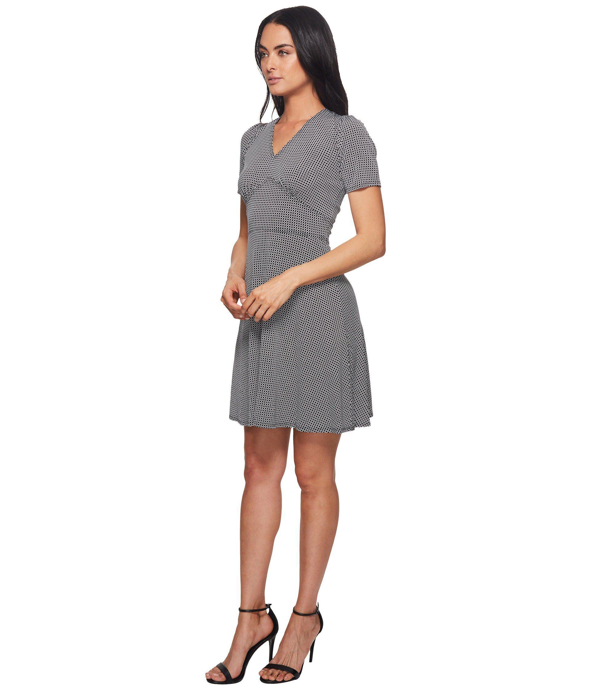 a42682b81 Lyst - MICHAEL Michael Kors Mod Geo Flare Dress in Black