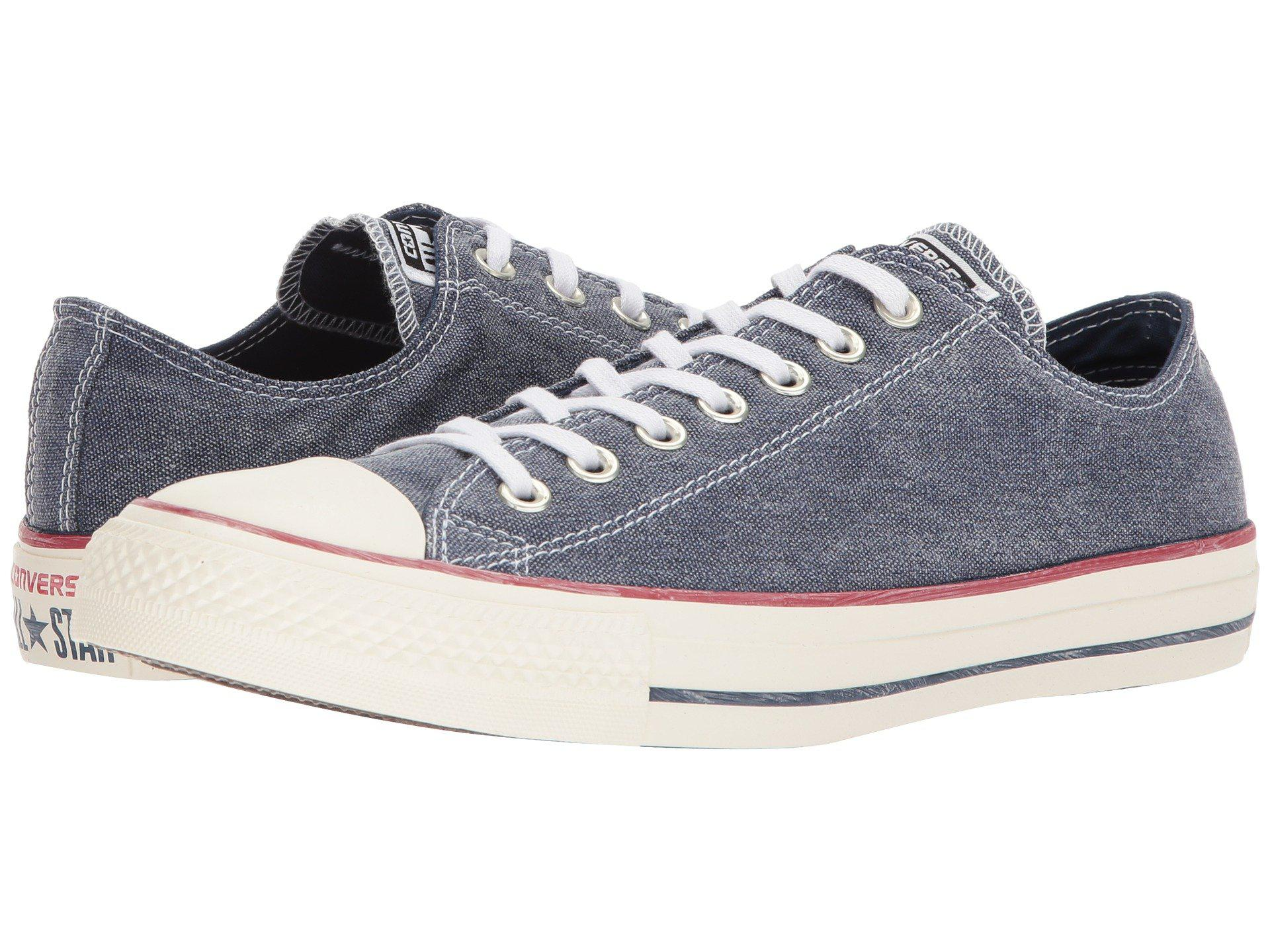 15d182173284 Lyst - Converse Chuck Taylor® All Star Stone Wash Canvas Ox in Blue