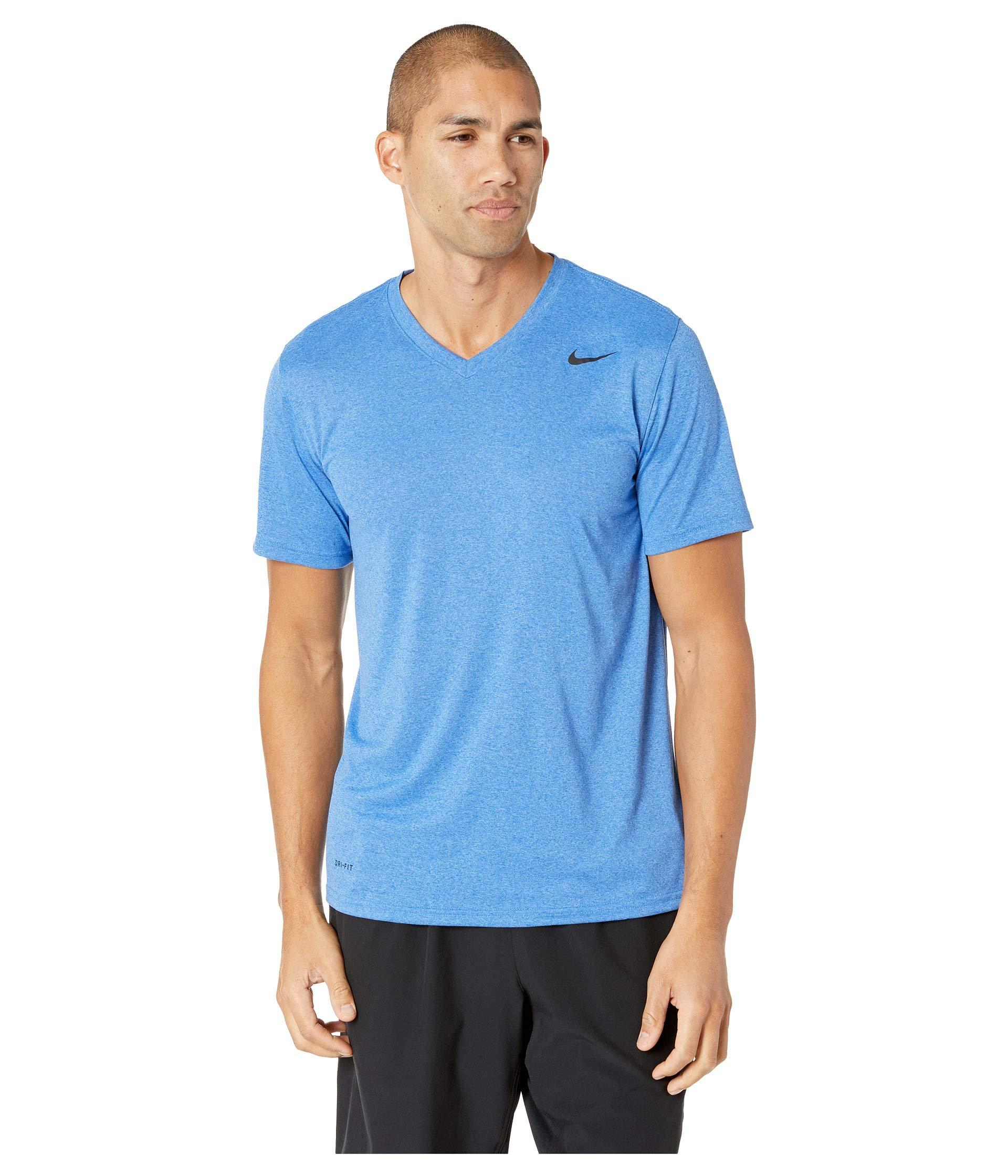 91f3009f Lyst - Nike Legend 2.0 Short Sleeve V-neck Tee in Blue for Men