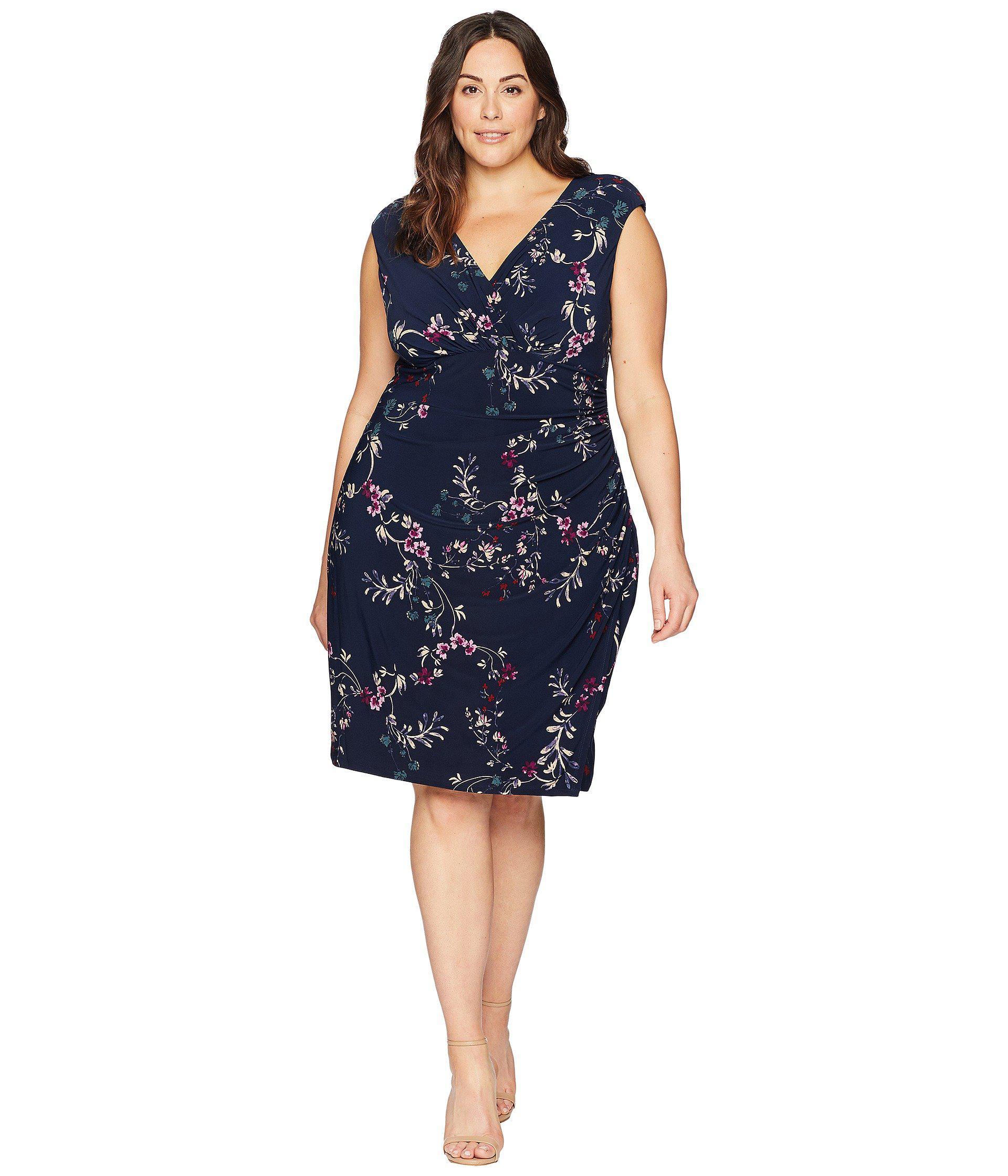 9eec5c2c Lauren by Ralph Lauren Plus Size Adara Avendida Floral in Blue ...
