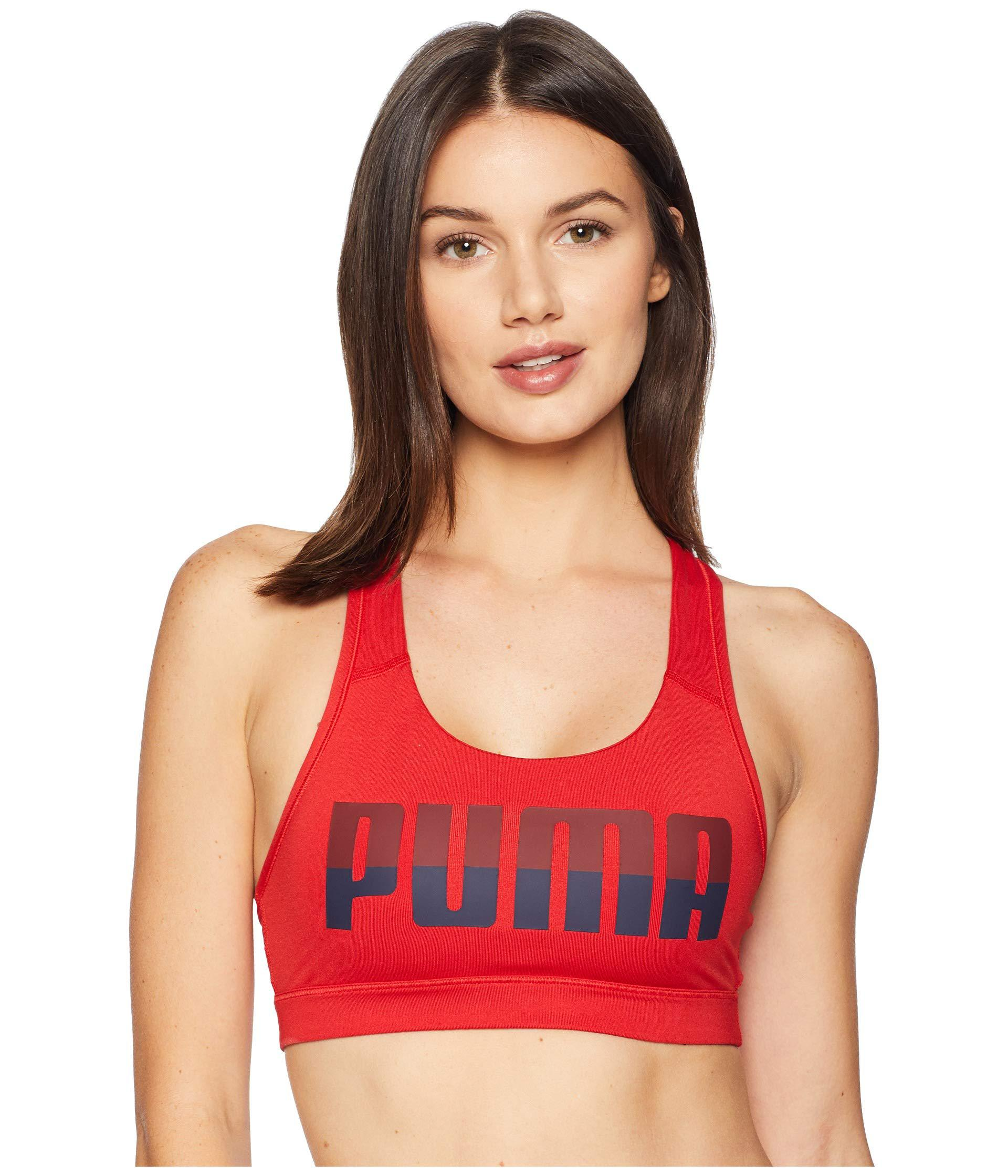 4453029302 Lyst - PUMA 4keeps Mid Impact Bra in Red - Save 73%