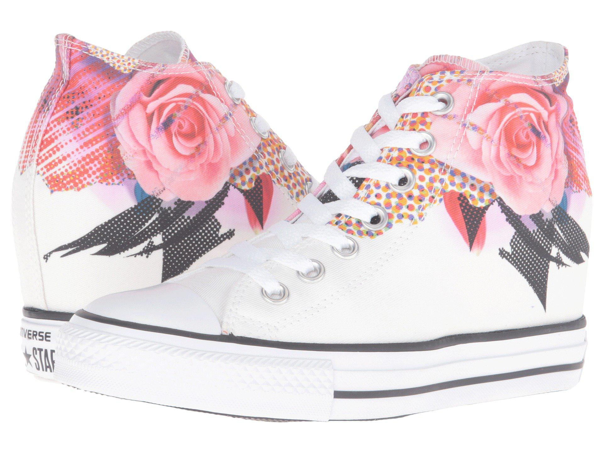 Lyst - Converse Chuck Taylor® All Star® Lux Digital Floral Print Mid ... d987e1ccb