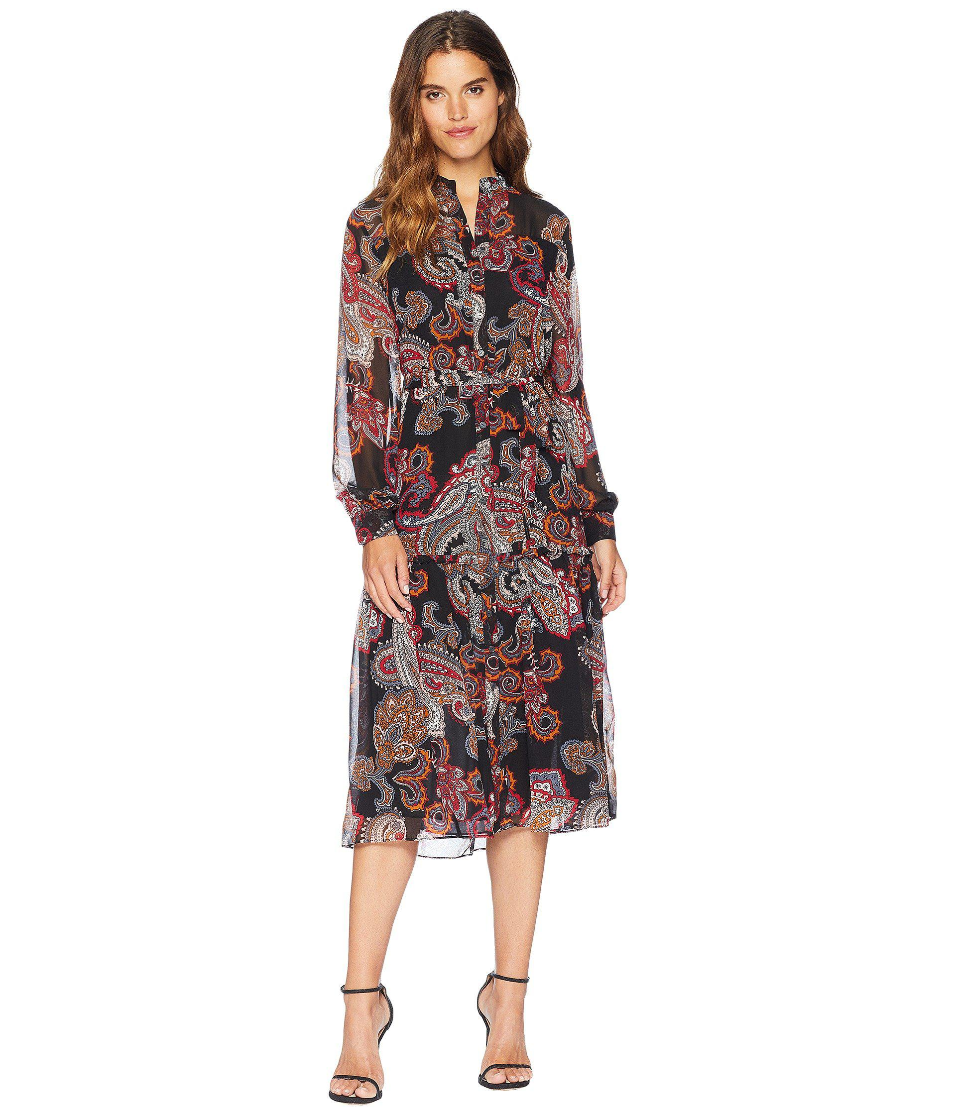 3f399fb2c9eb Lyst - Juicy Couture Trendsetter Paisley Midi Dress