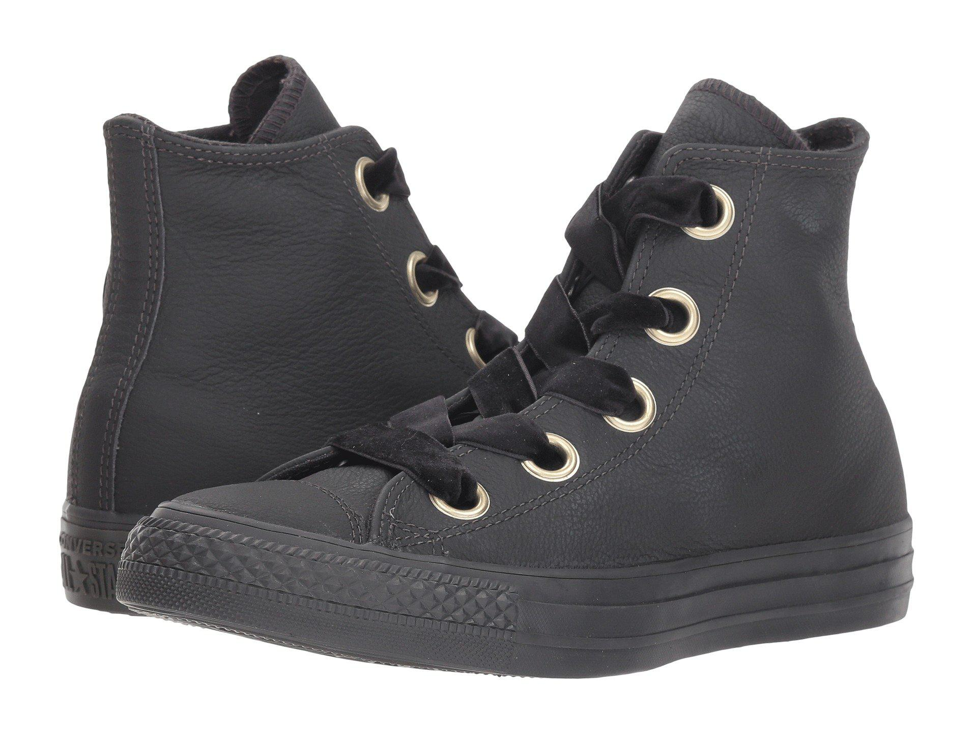 37e9135e28b2c8 Converse - Black Chuck Taylor All Star Big Eyelet - Leather Hi - Lyst. View  fullscreen
