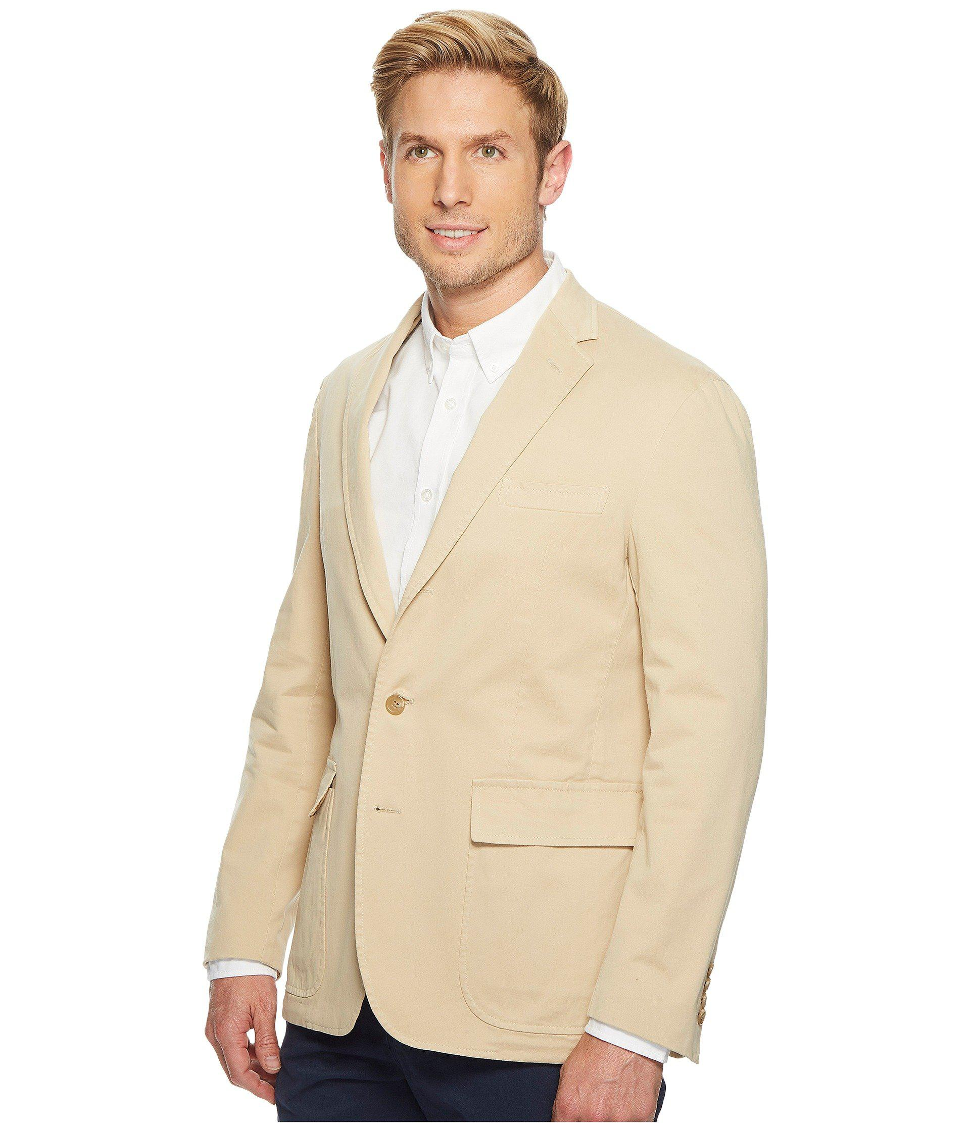 b18a6d32a8e Lyst - Polo Ralph Lauren Garment Dyed Cotton Stretch Sportcoat in Natural  for Men - Save 50%