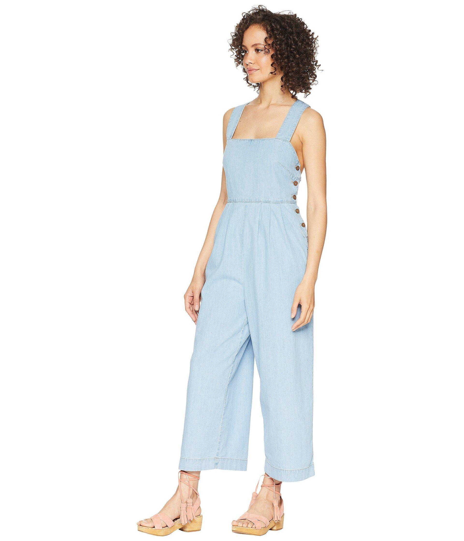 2c228808aa5 Lyst - Free People Fara Jumpsuit - Indigo in Blue - Save 37%