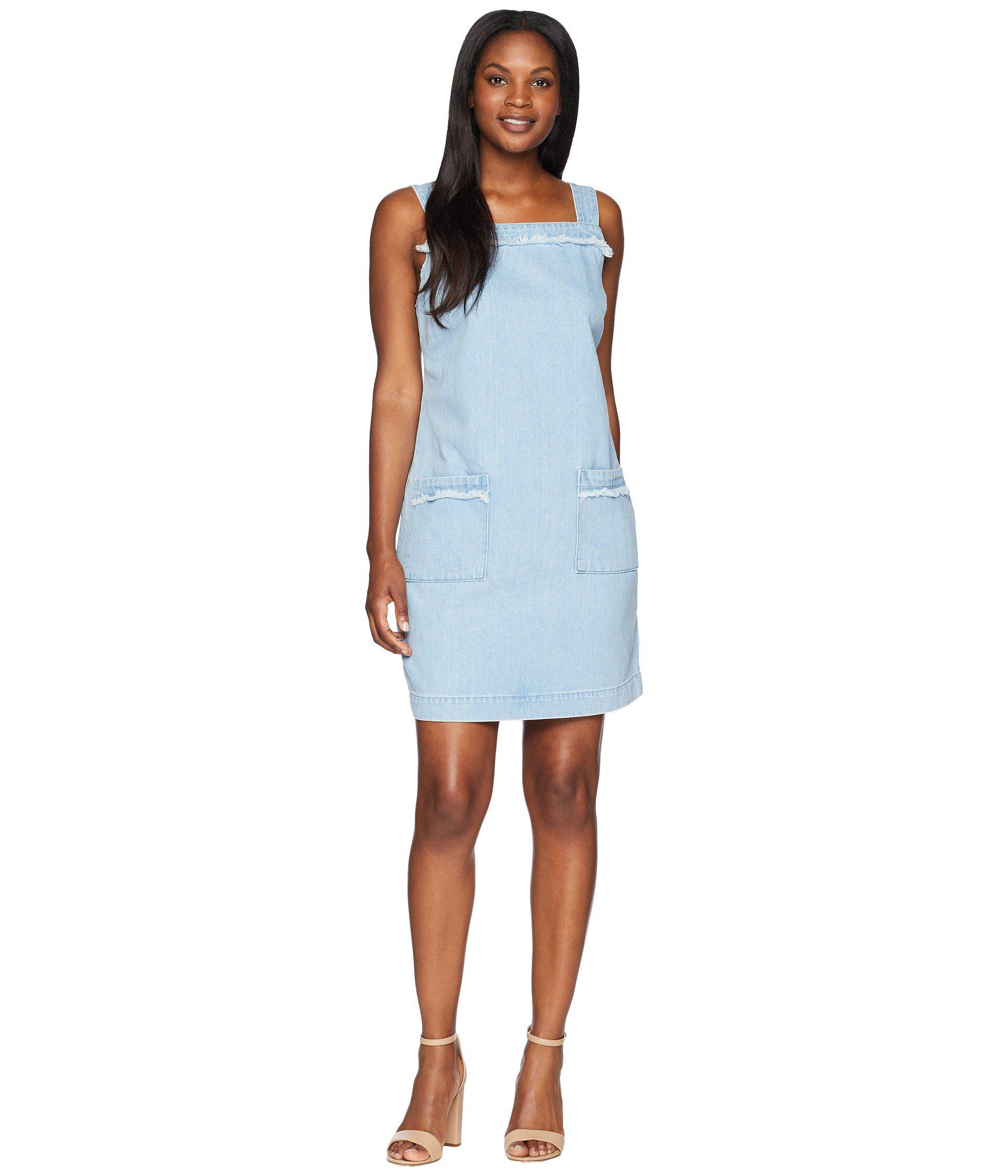 208ca87965 Lyst - Two By Vince Camuto Sleeveless Frayed Edge Two-pocket Classic ...