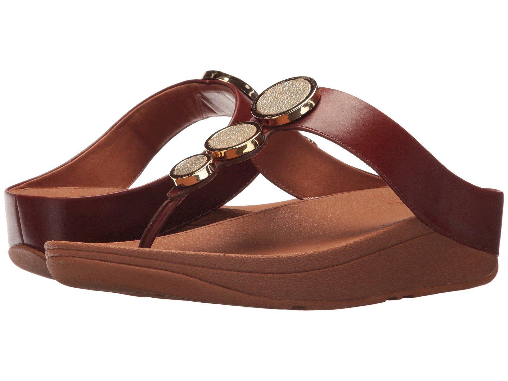 309d6f31b5da Lyst - Fitflop Halo Toe Thong Sandals in Brown
