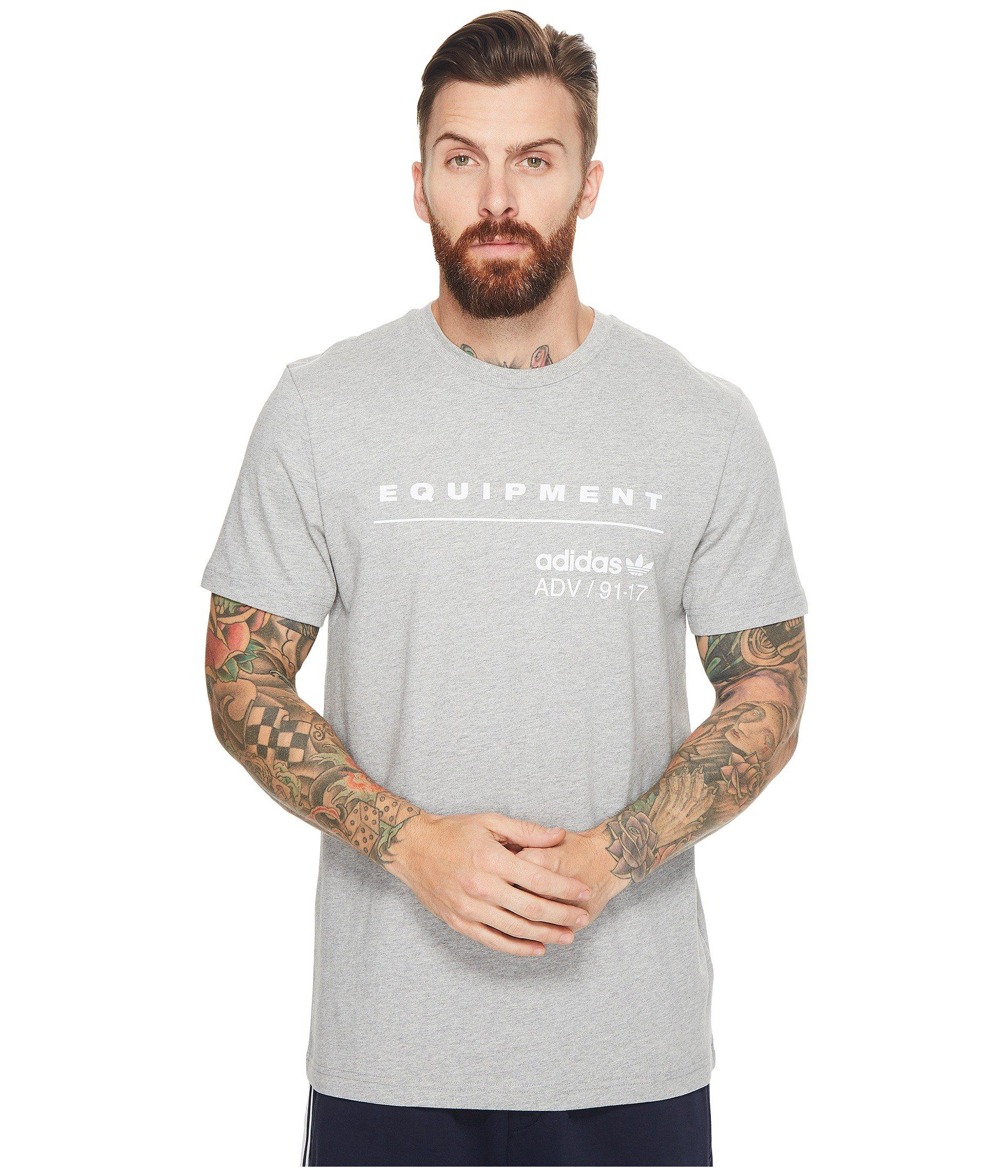 new product 2ab71 05e8b Lyst - Adidas Originals Pdx Classic Tee in Gray for Men
