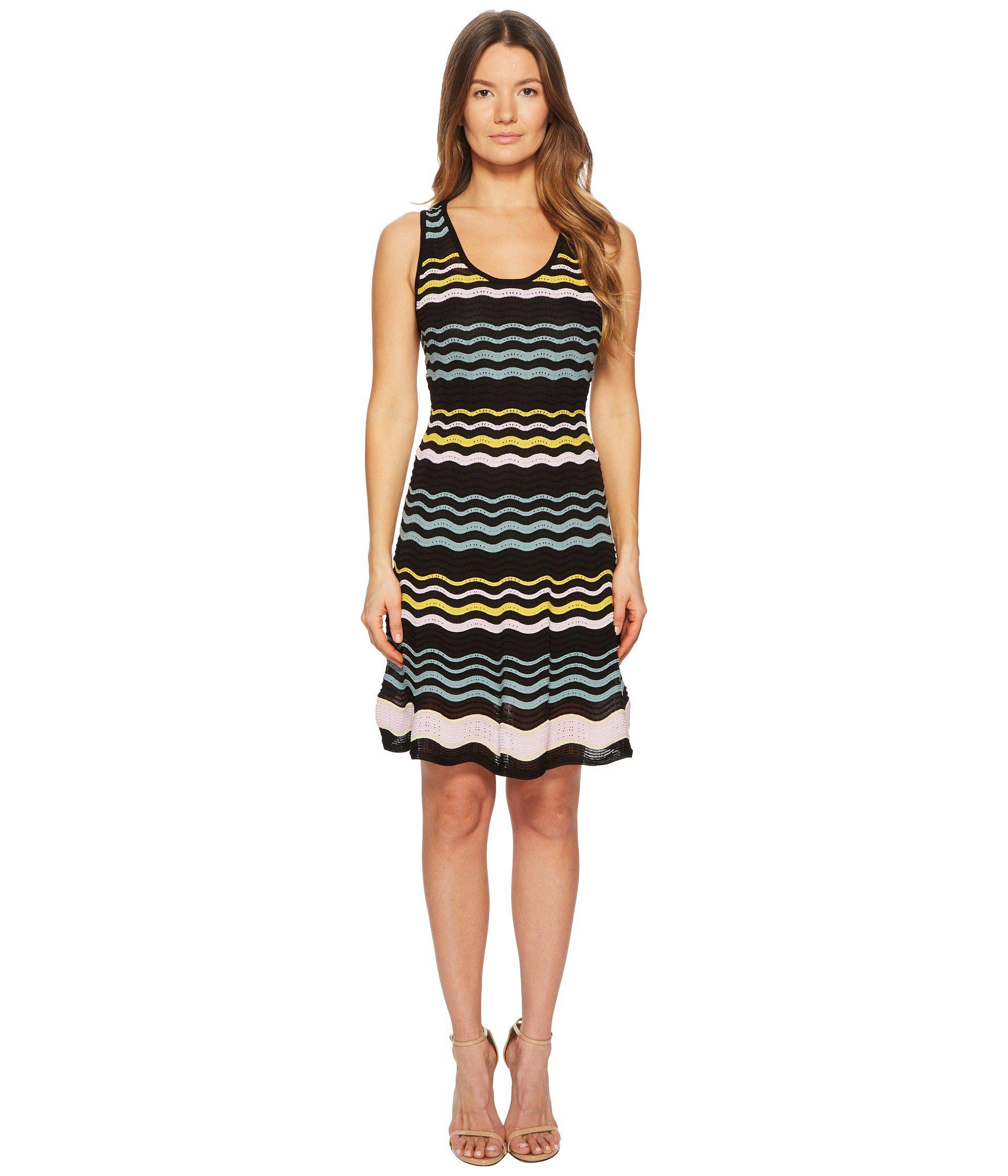 d09369deca8872 Lyst - M Missoni Color Block Ripple Dress (black) Women s Dress in ...