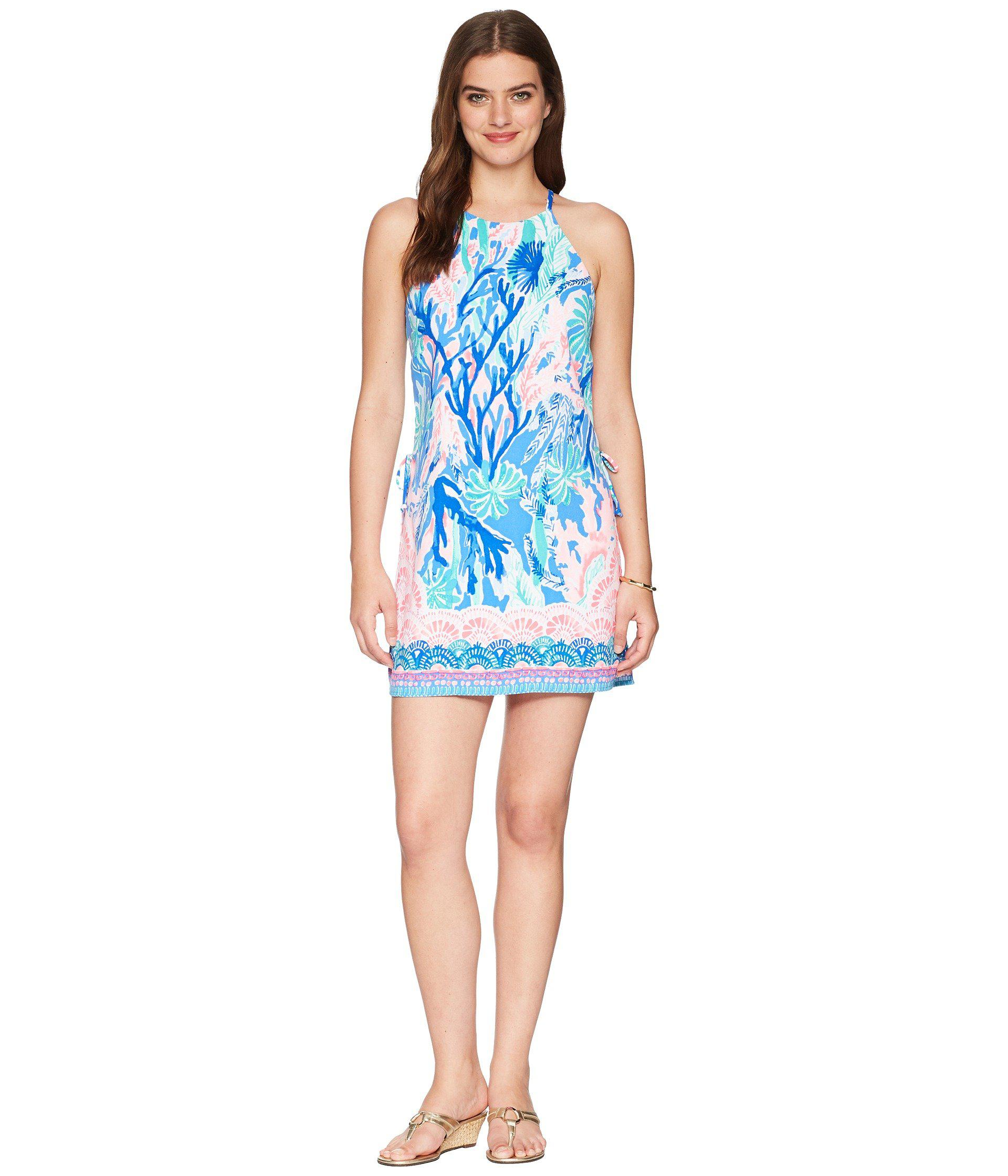 d2da00a1ccd039 Lyst - Lilly Pulitzer Pearl Romper in Blue - Save 50%