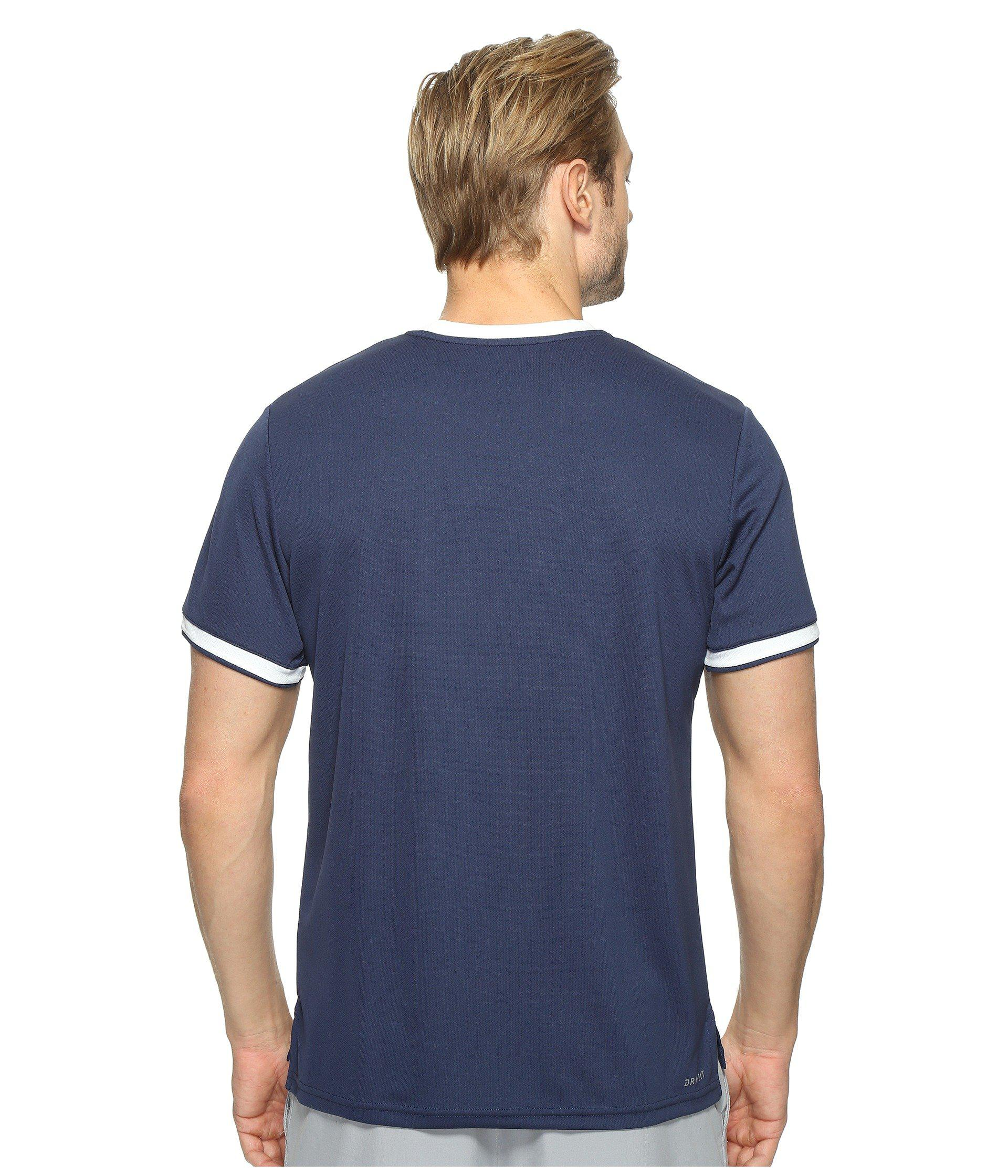 reputable site 88831 57aa1 Nike Court Dry Team Crew in Blue for Men - Lyst