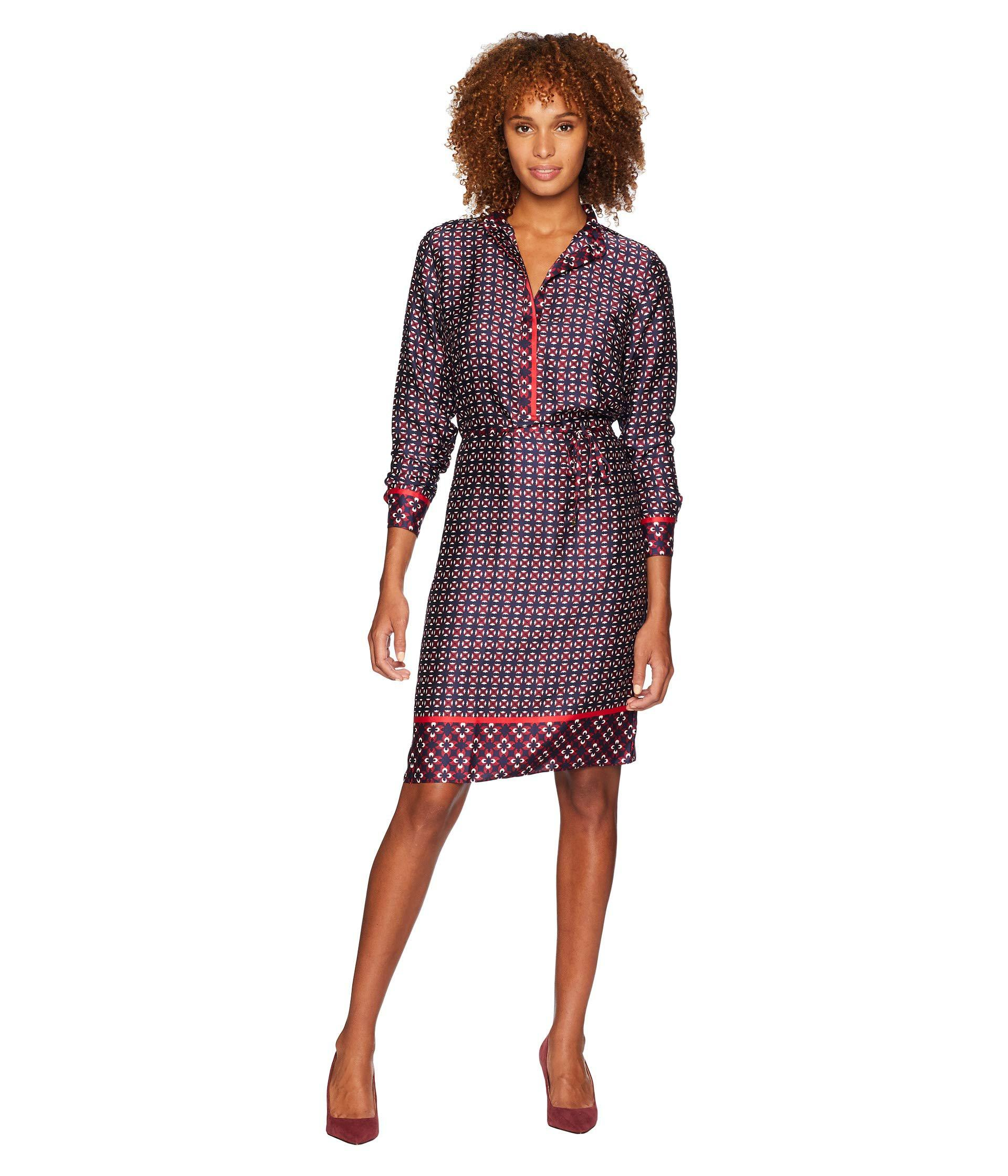 7fbc1342e6b38 Lyst - Lauren by Ralph Lauren Print Twill Shirtdress in Purple