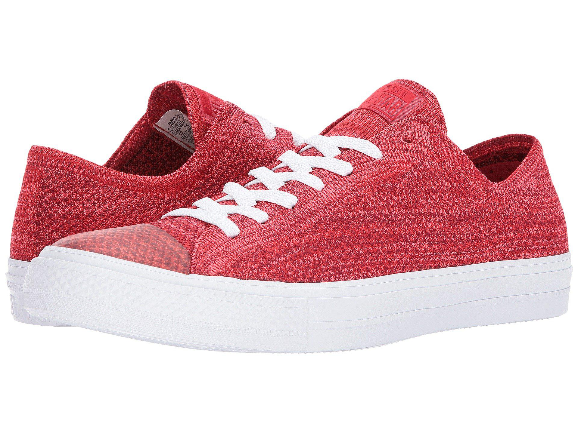 9722d8e07a41 Lyst - Converse Chuck Taylor® All Star® X Nike Flyknit Ox in Red for Men