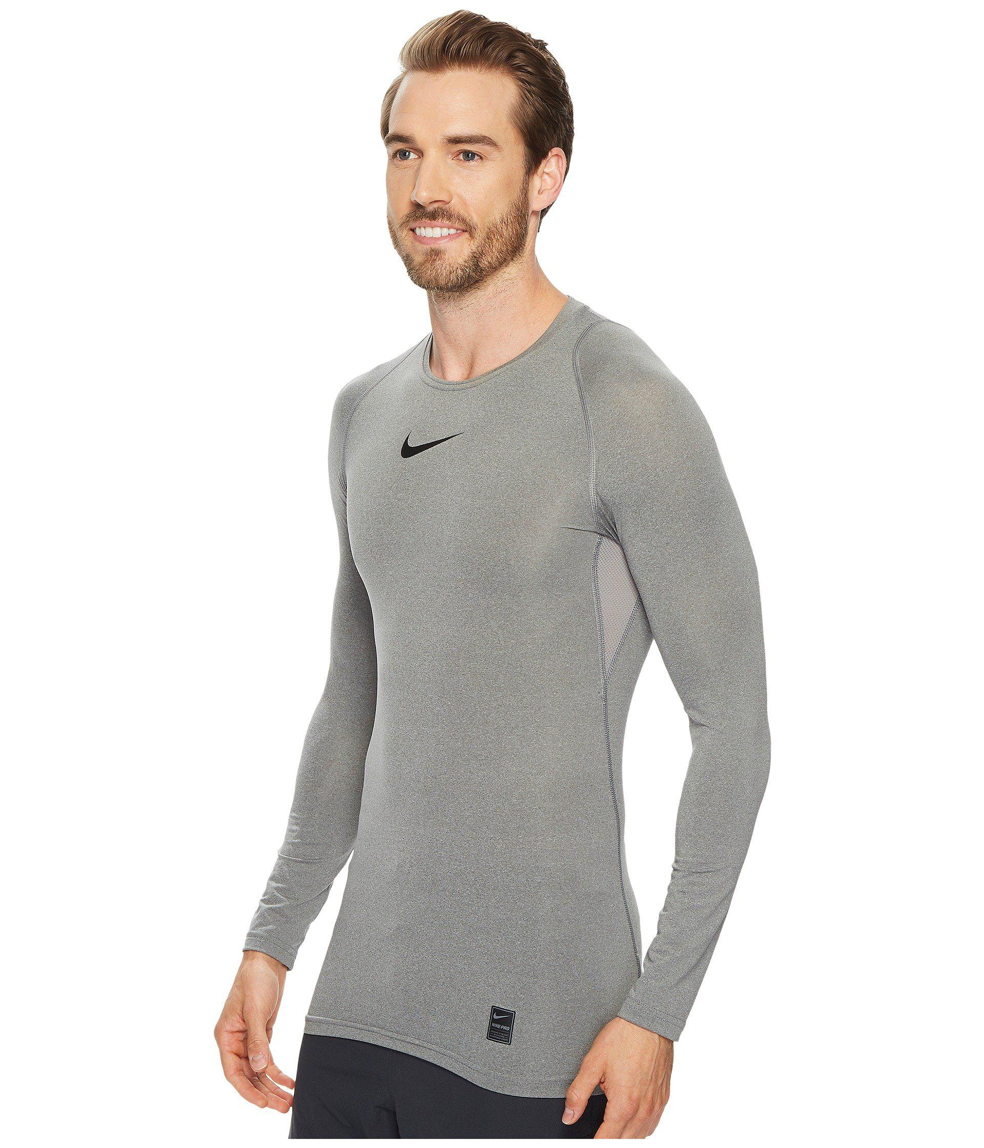9d7a3ff3121b Lyst - Nike Pro Compression Long Sleeve Training Top in Gray for Men - Save  19%