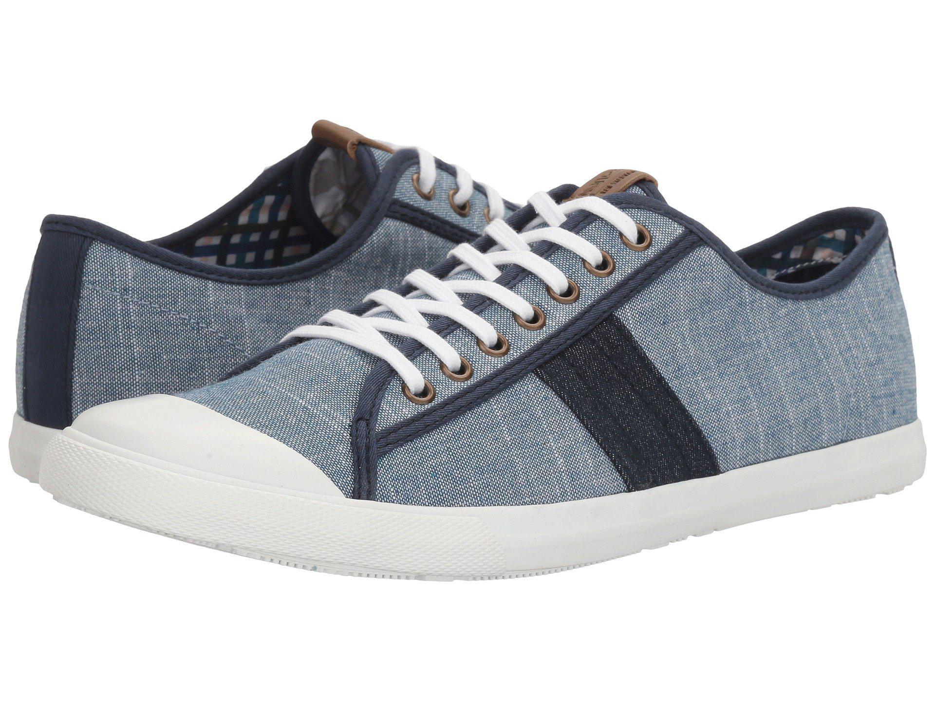 Cheap New Arrivals Ben Sherman Eddie Men Round Toe Canvas Gray Sneakers Mens Grey Ben Sherman Mens Sneakers